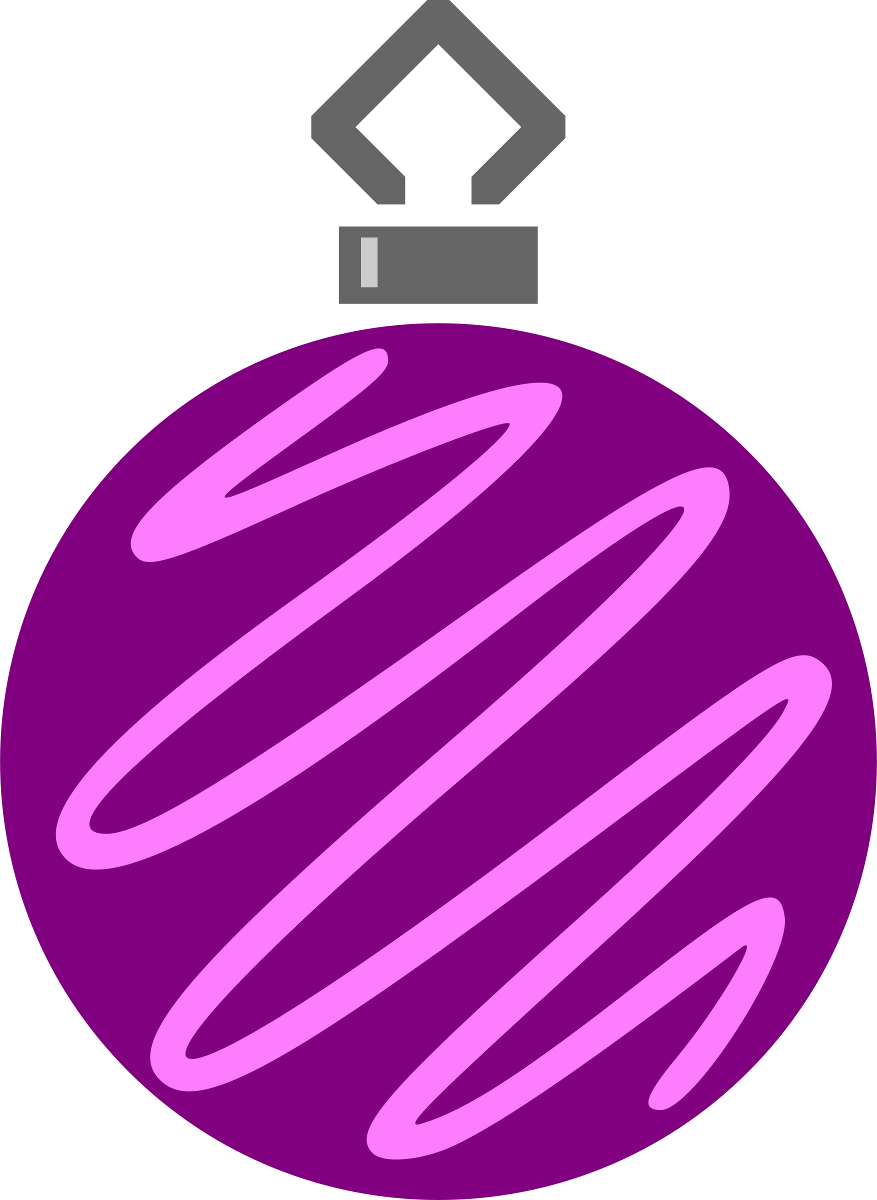 Simple tree bauble 7 (colour) by Firkin