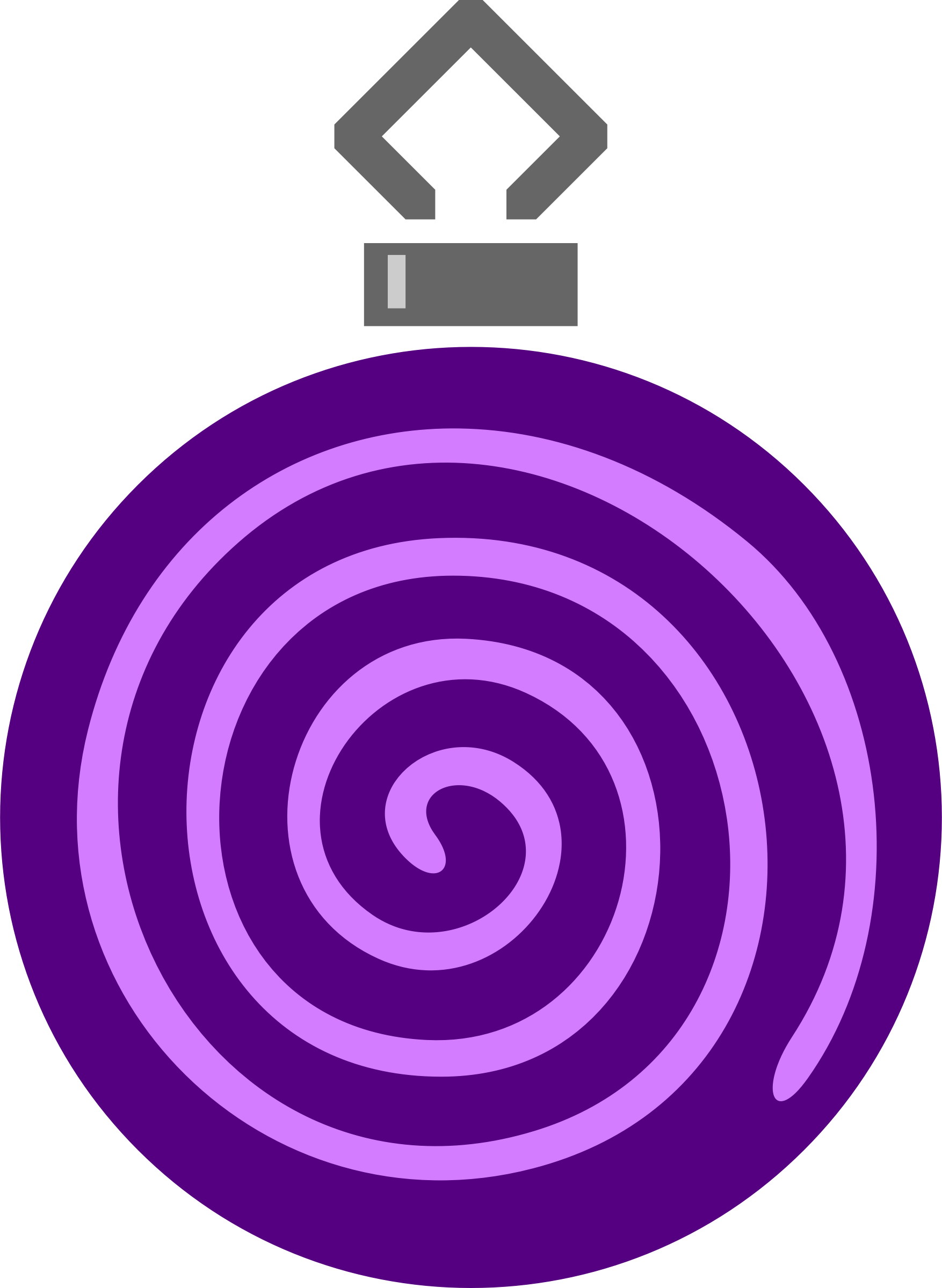 Simple tree bauble 8 (colour) by Firkin