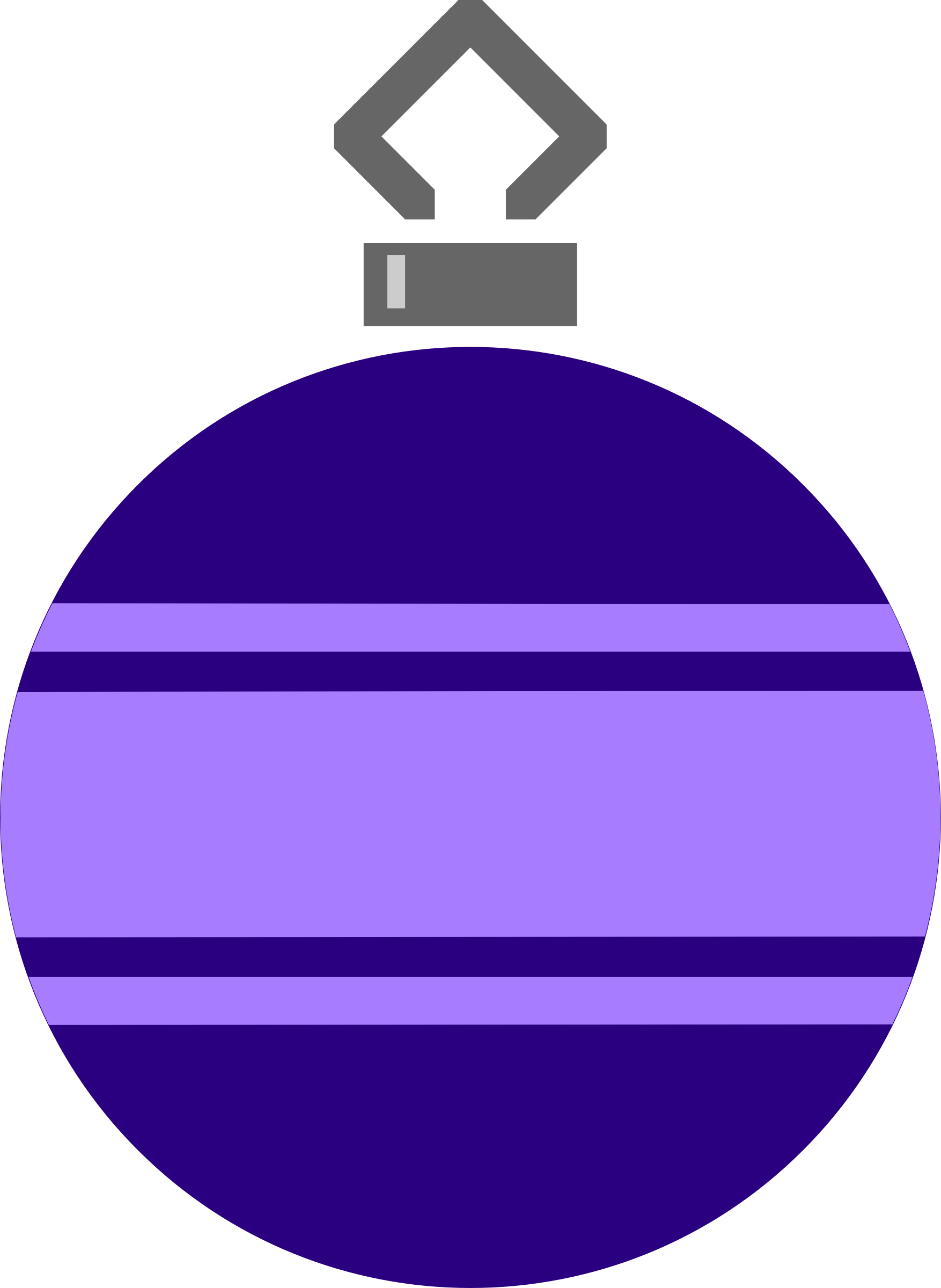 Simple tree bauble 9 (colour) by Firkin