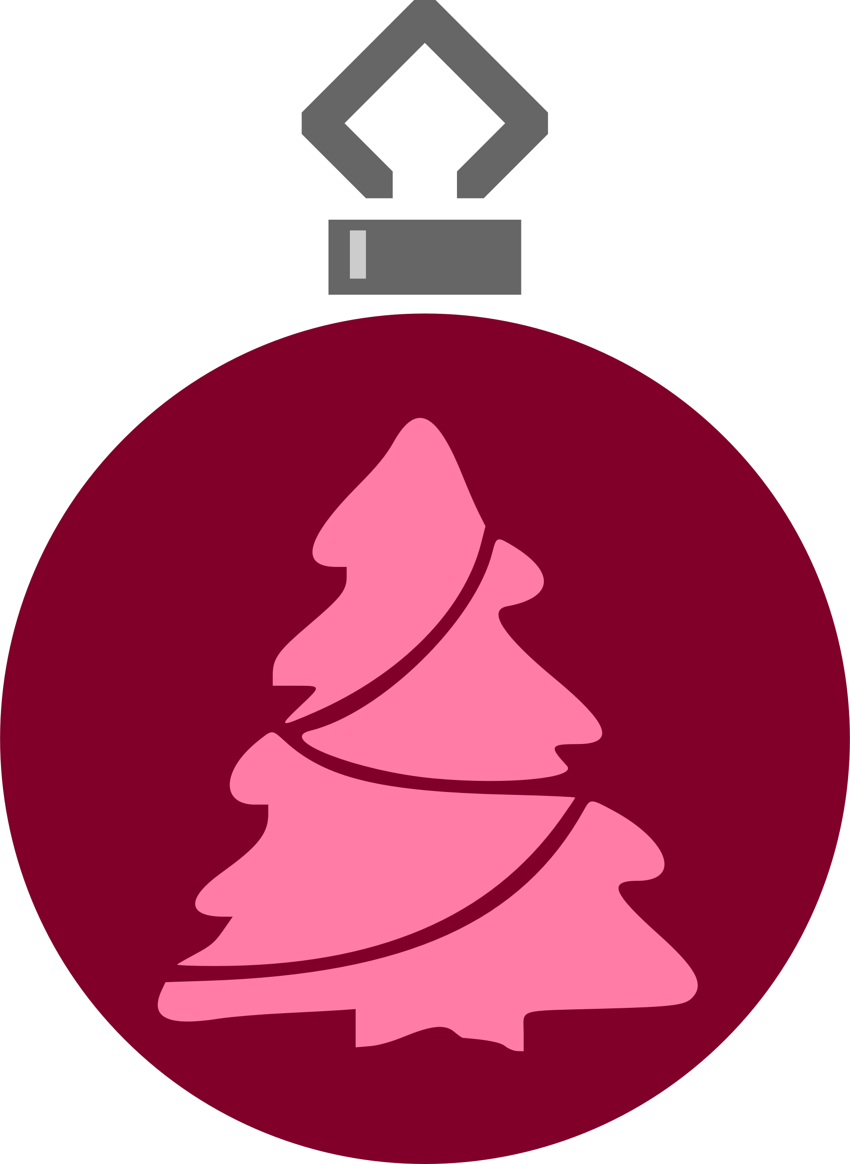 Simple tree bauble 11 (colour) by Firkin