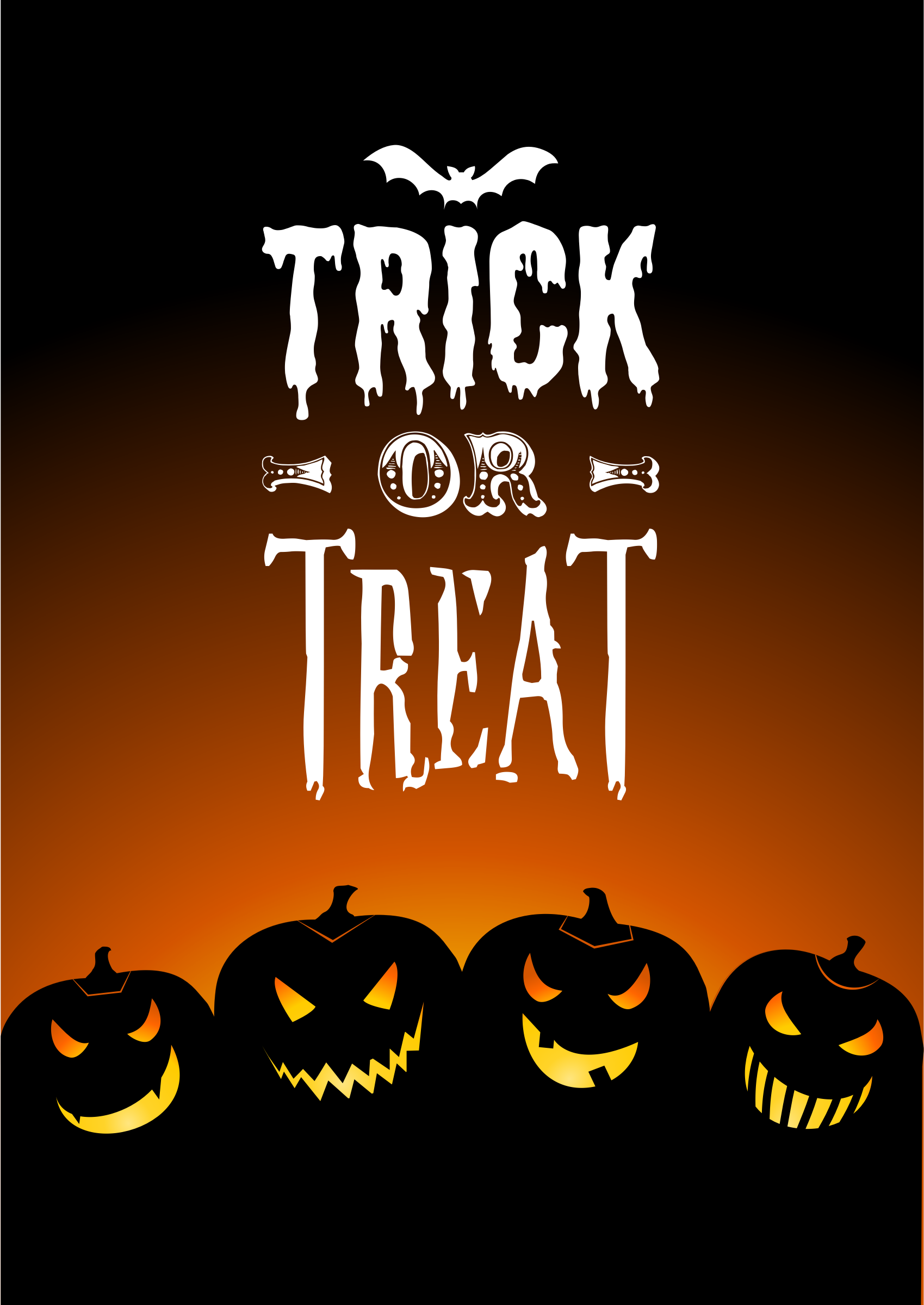 Trick or Treat with Jack-o-lanterns Card by uroesch