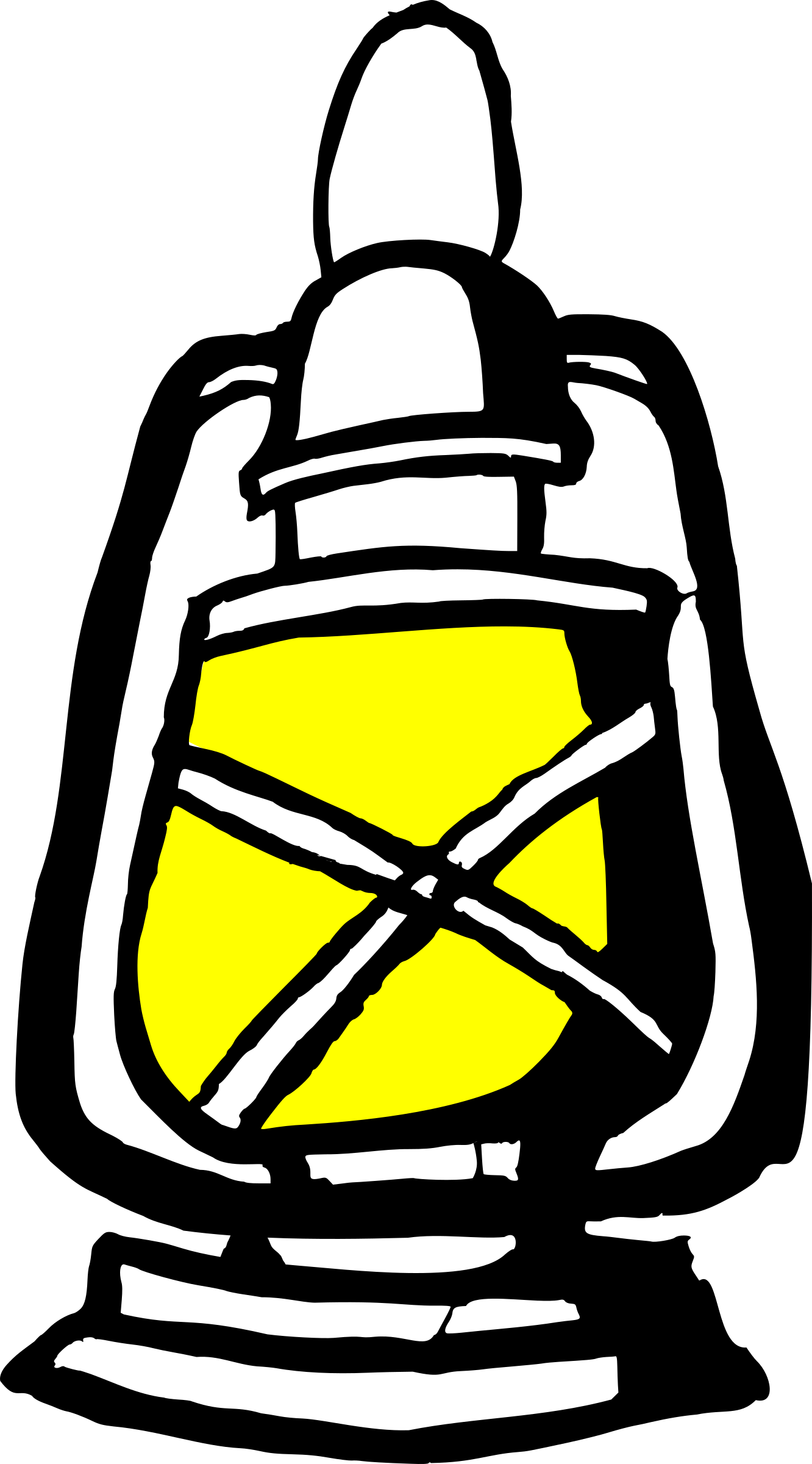 lantern with yellow light by mr.lex
