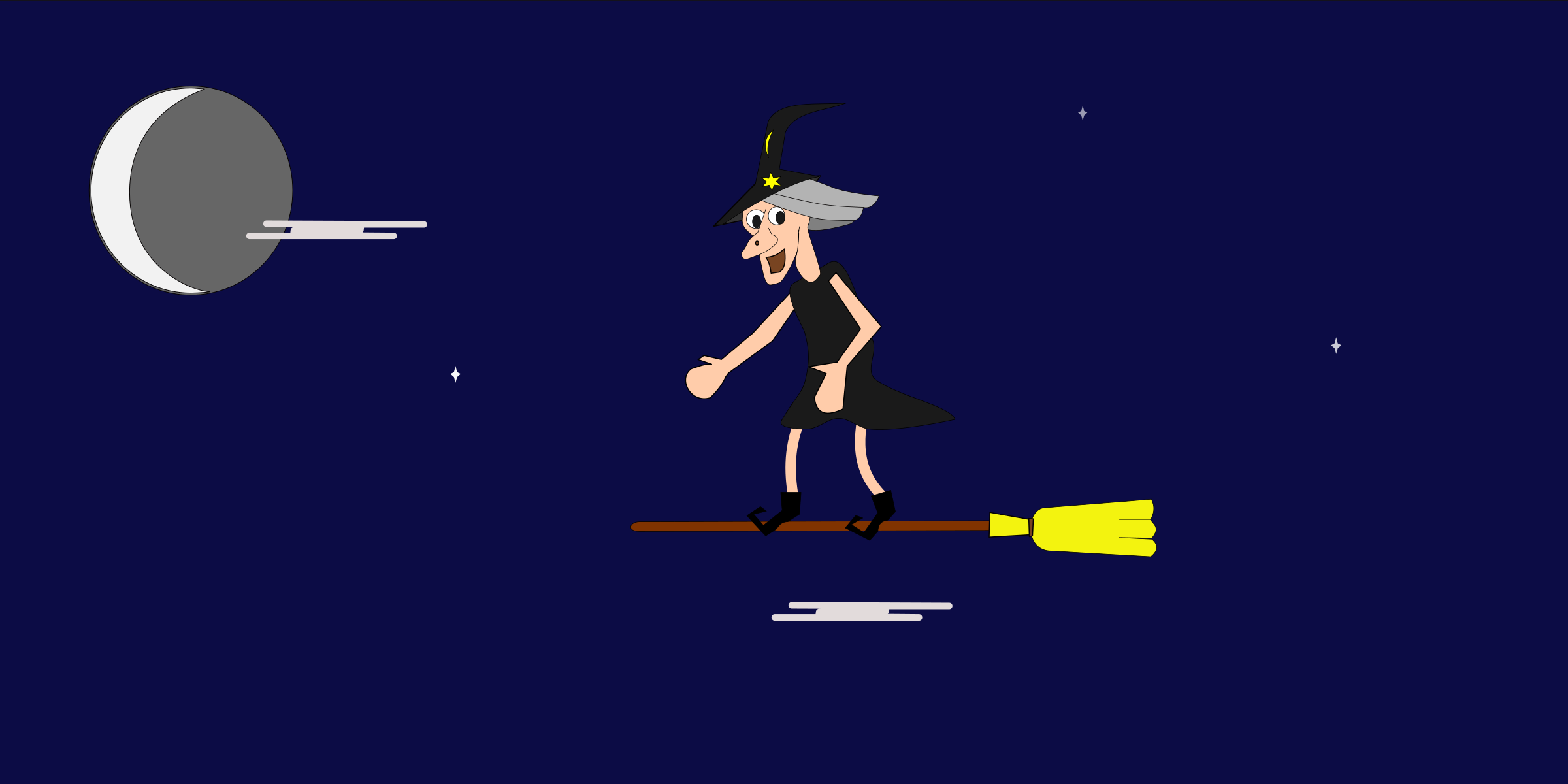 Silly old witch. Animated by aukipa