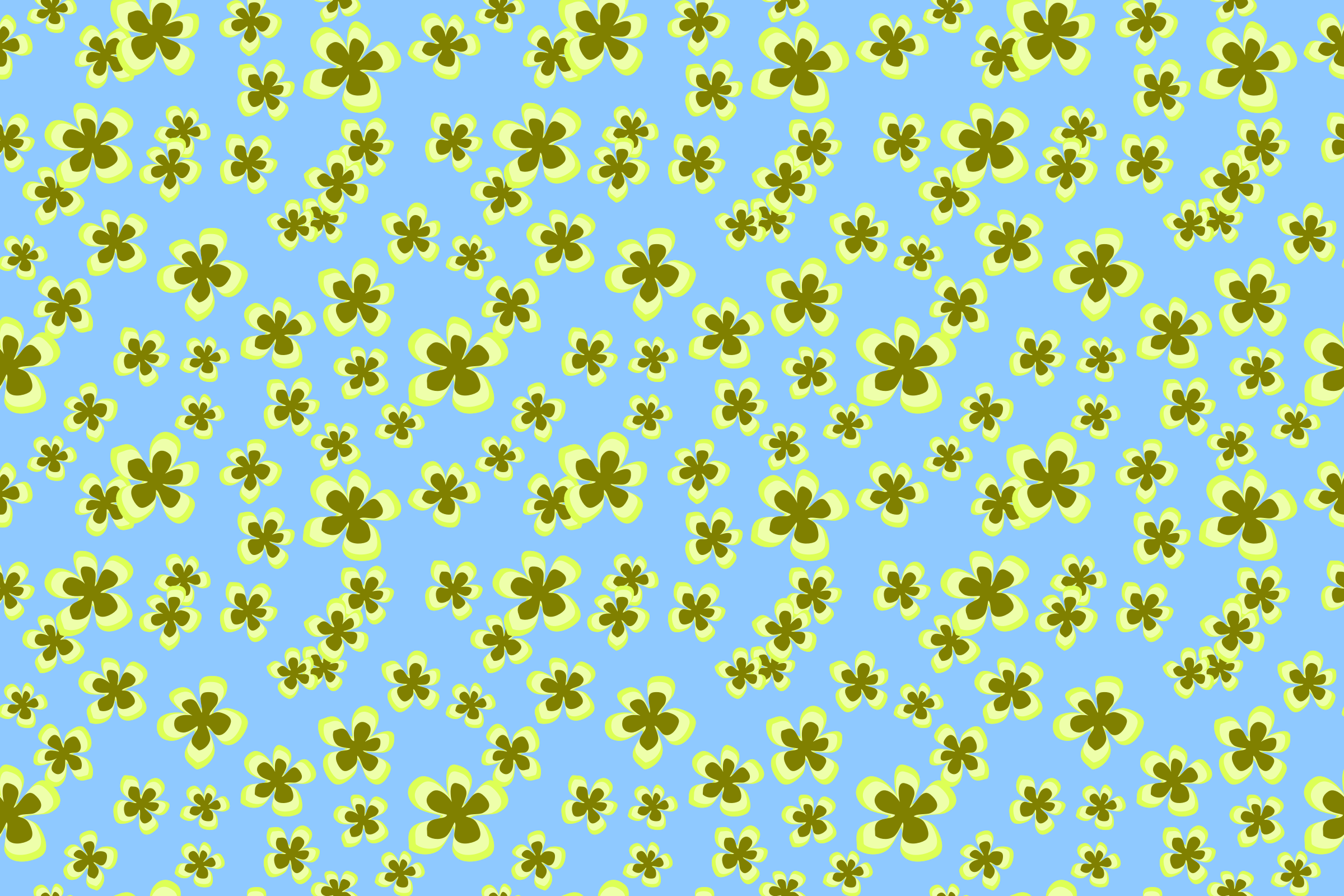 Floral pattern 7 (colour 2) by Firkin