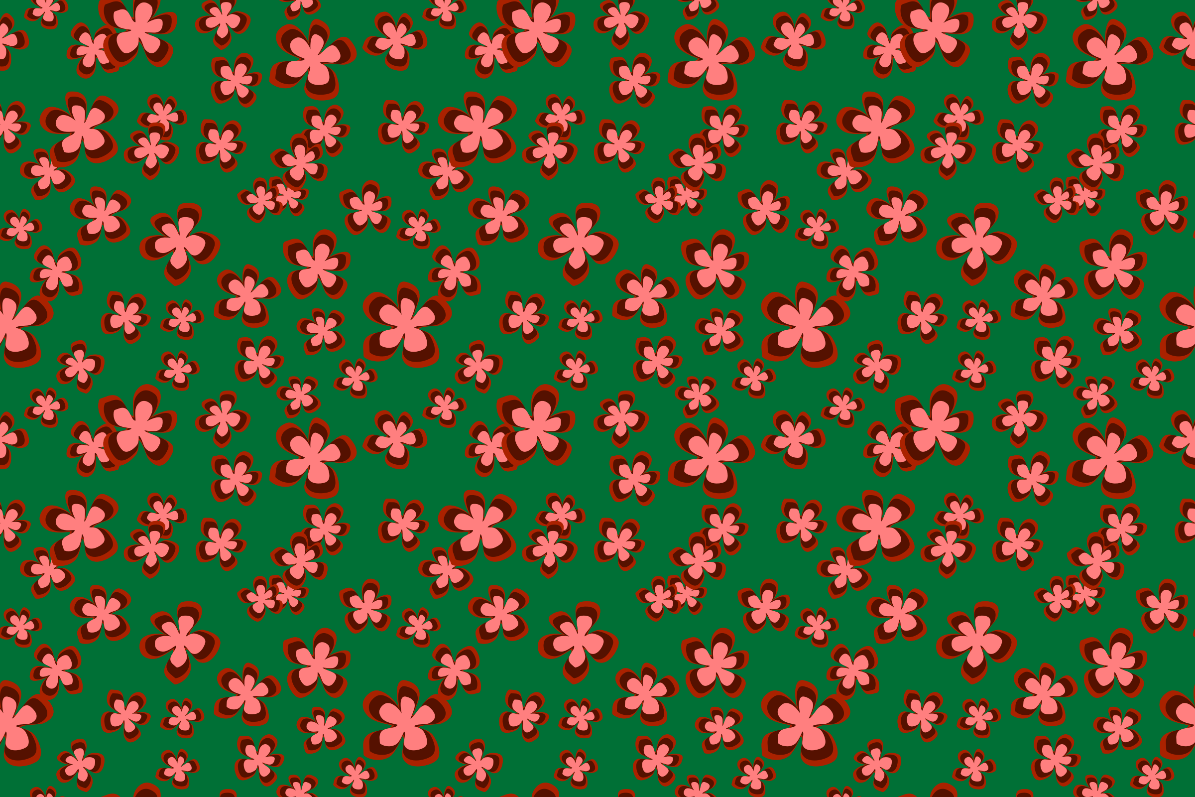 Floral pattern 7 (colour 4) by Firkin