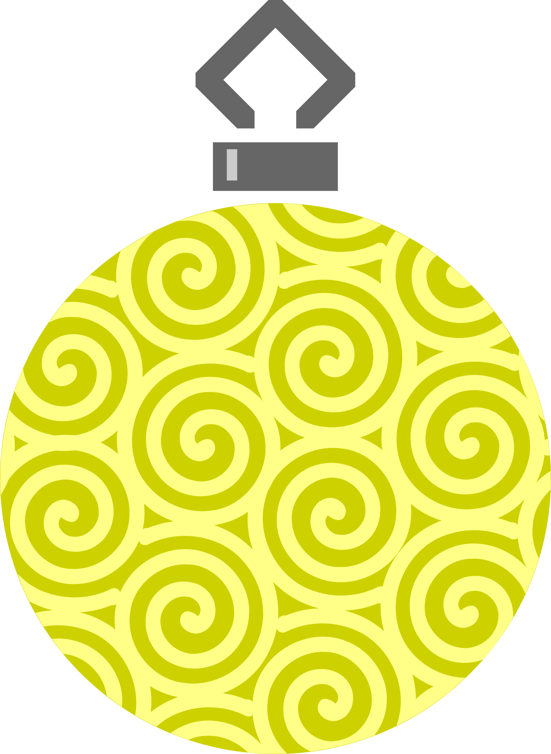 Simple tree bauble 13 (colour) by Firkin