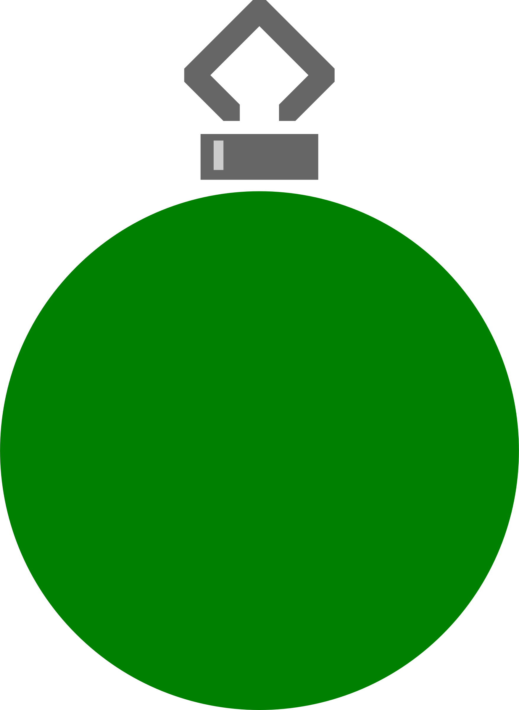 Simple tree bauble 17 (colour) by Firkin