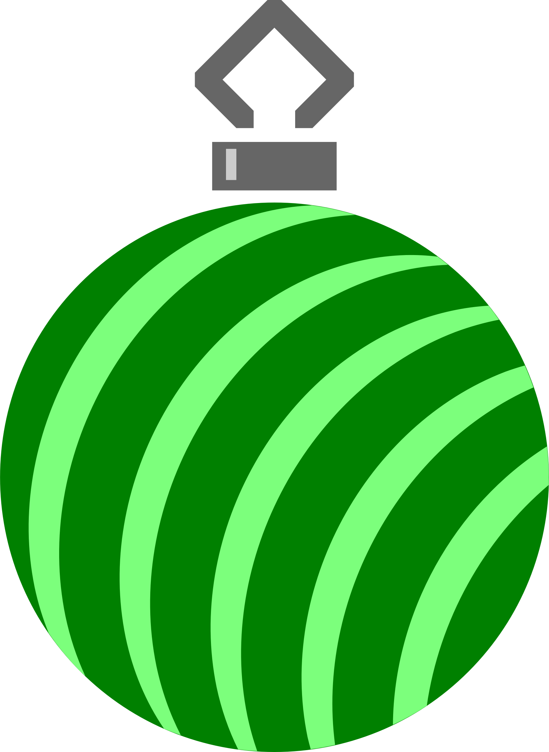 Simple tree bauble 20 (colour) by Firkin
