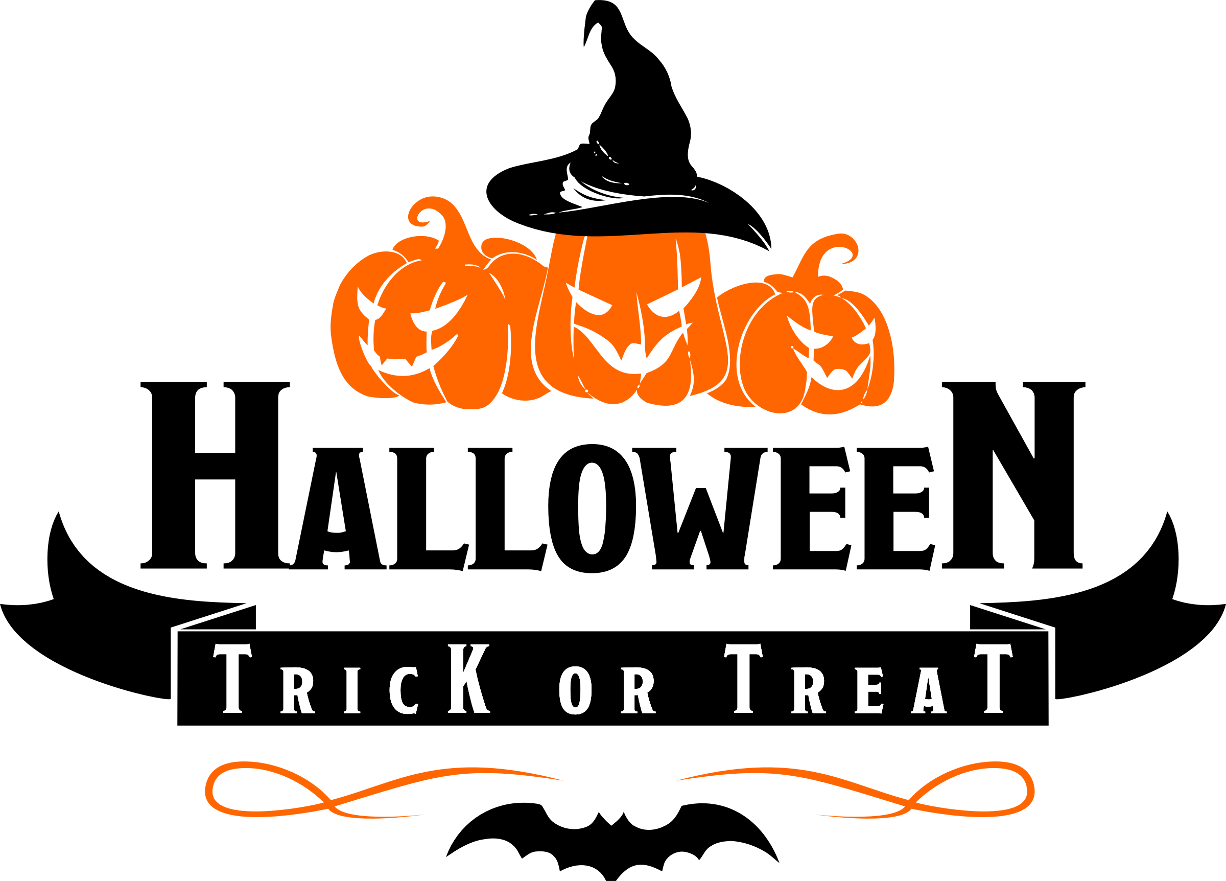 Clipart - Halloween - Trick or Treat Logo