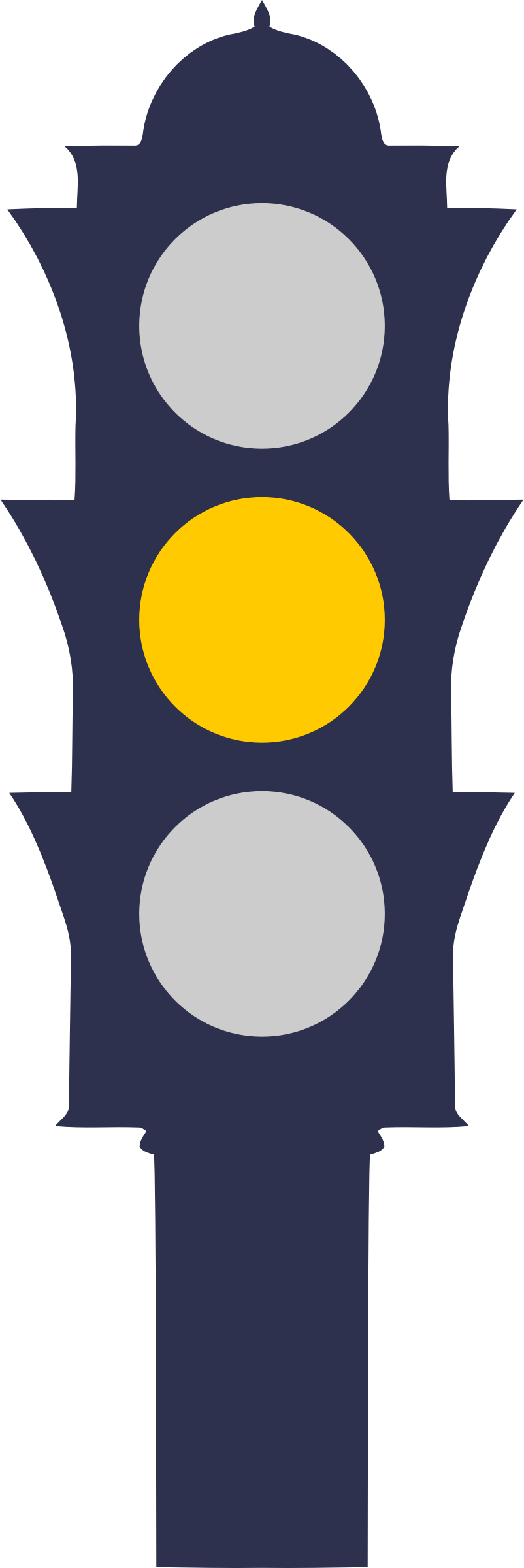 Clipart - Traffic light (amber) Green Road Sign Png