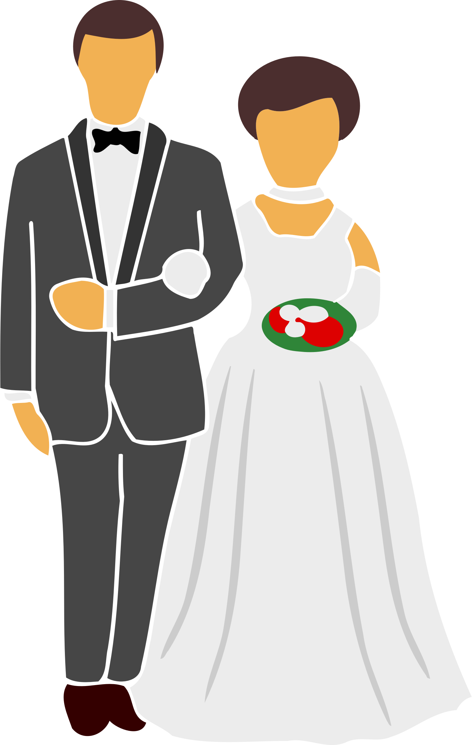 Bride and groom by Firkin