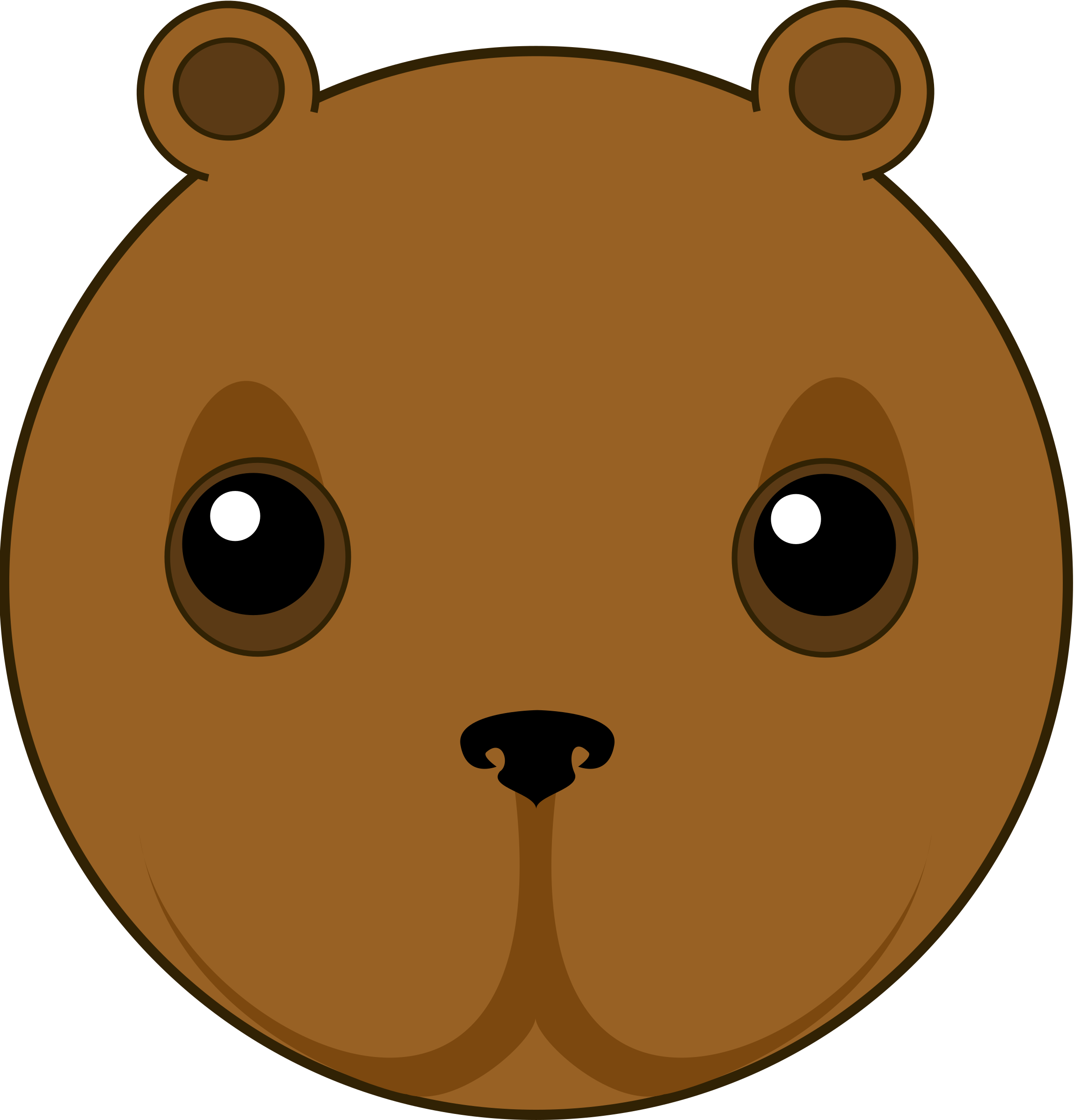 cute bear head by ikabezier