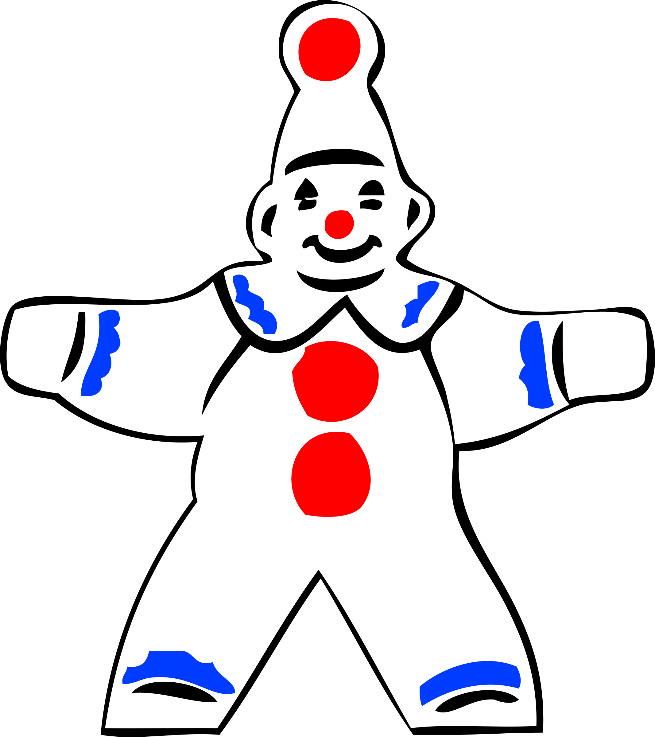 simple clown figure by johnny_automatic