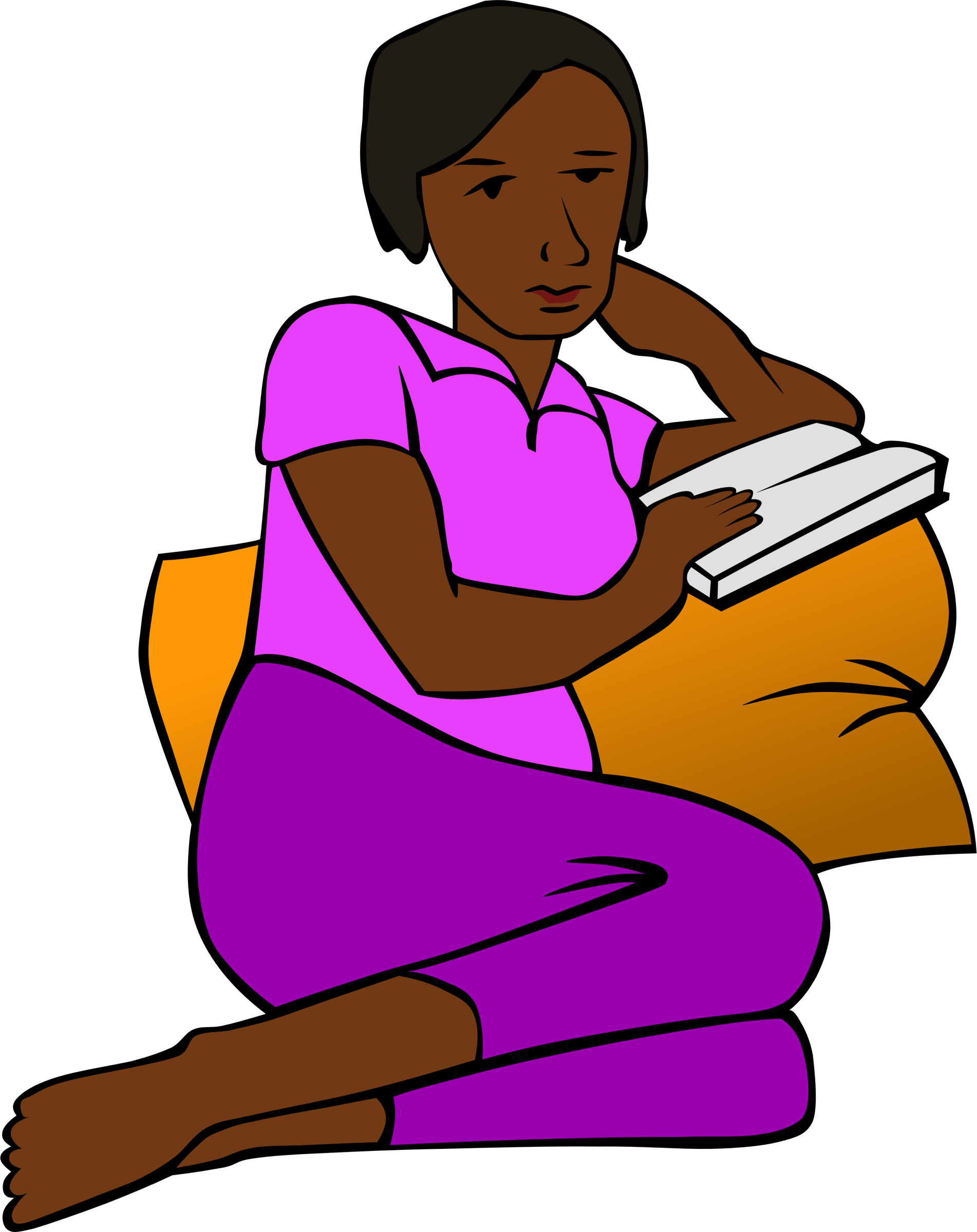 African Woman Reading more colour by The Martin