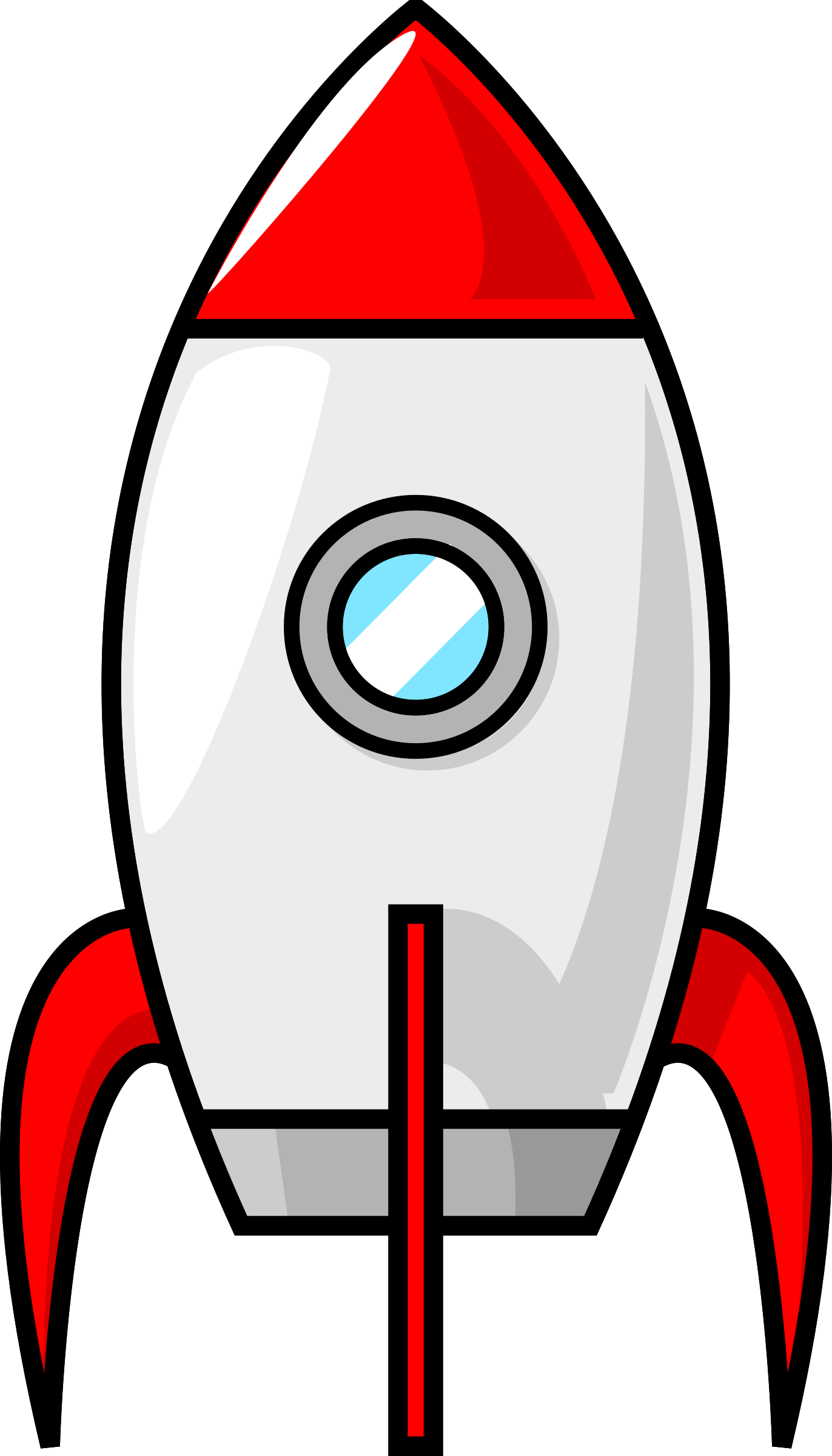 A cartoon moon rocket by purzen