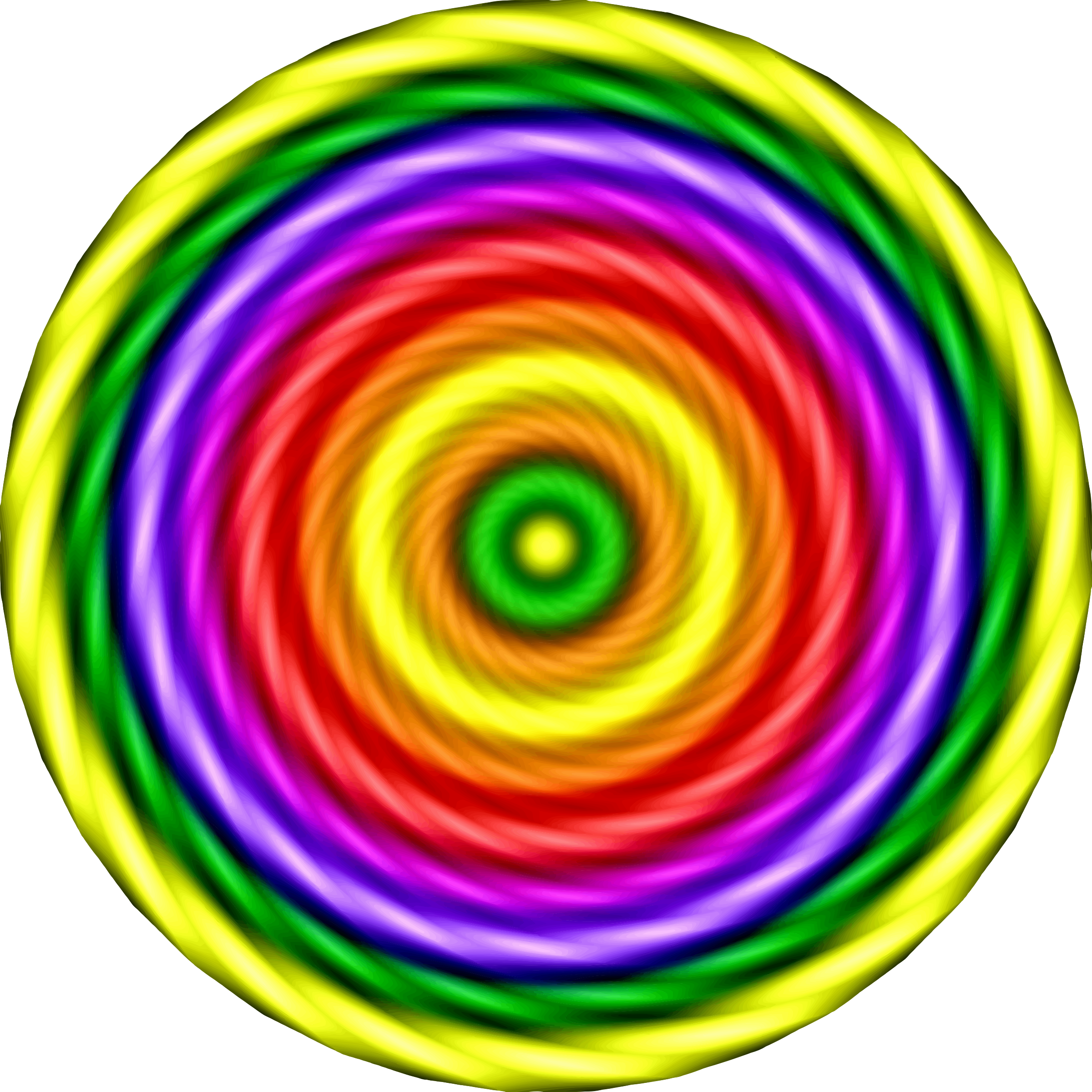 Colourful spiral by Firkin
