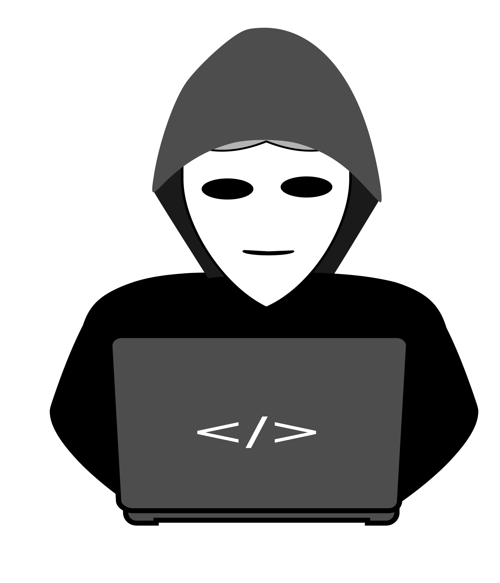 Anonymous hacker behind pc by elconomeno@email.com