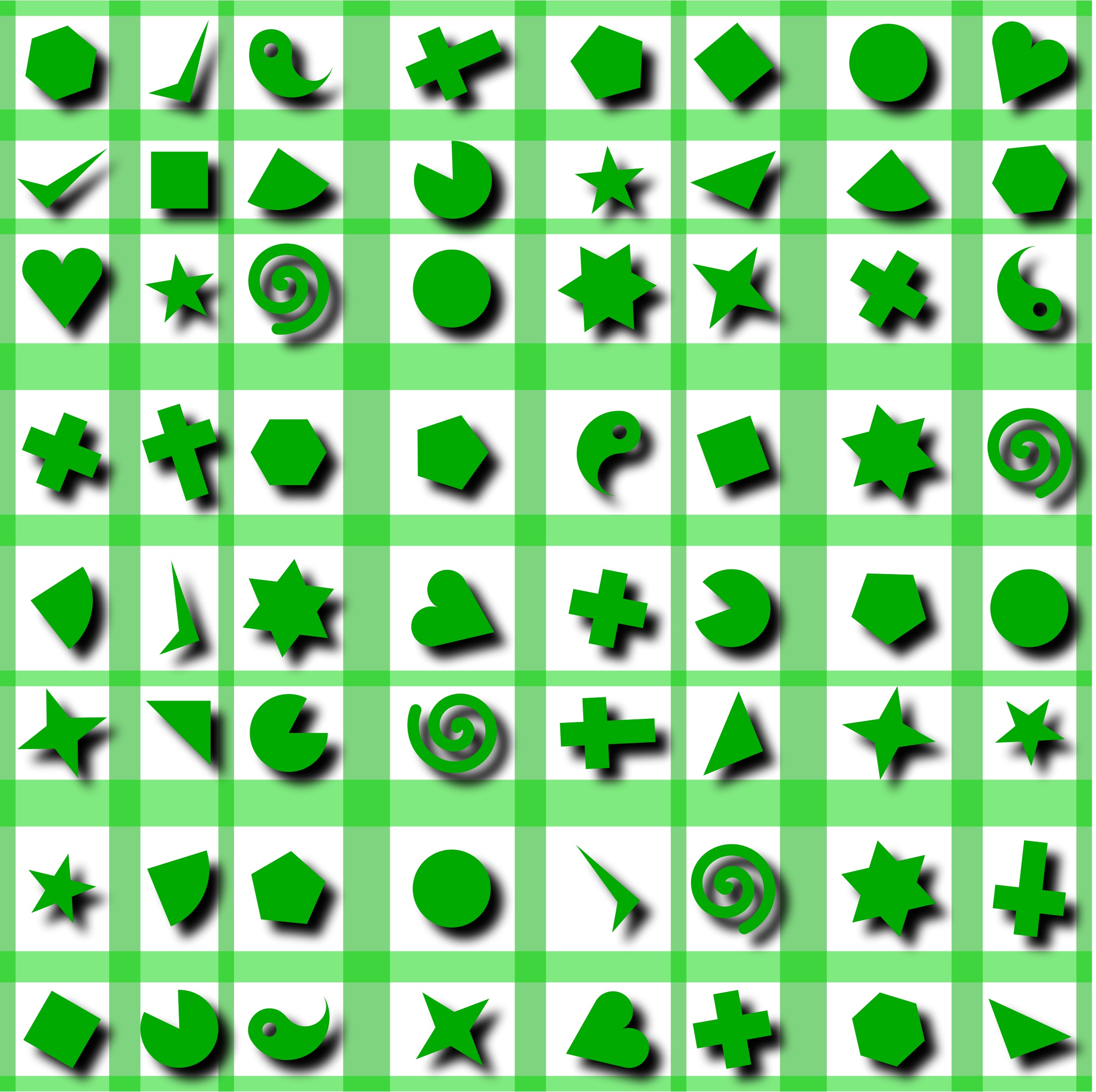 Shapes pattern 2 (colour 2) by Firkin