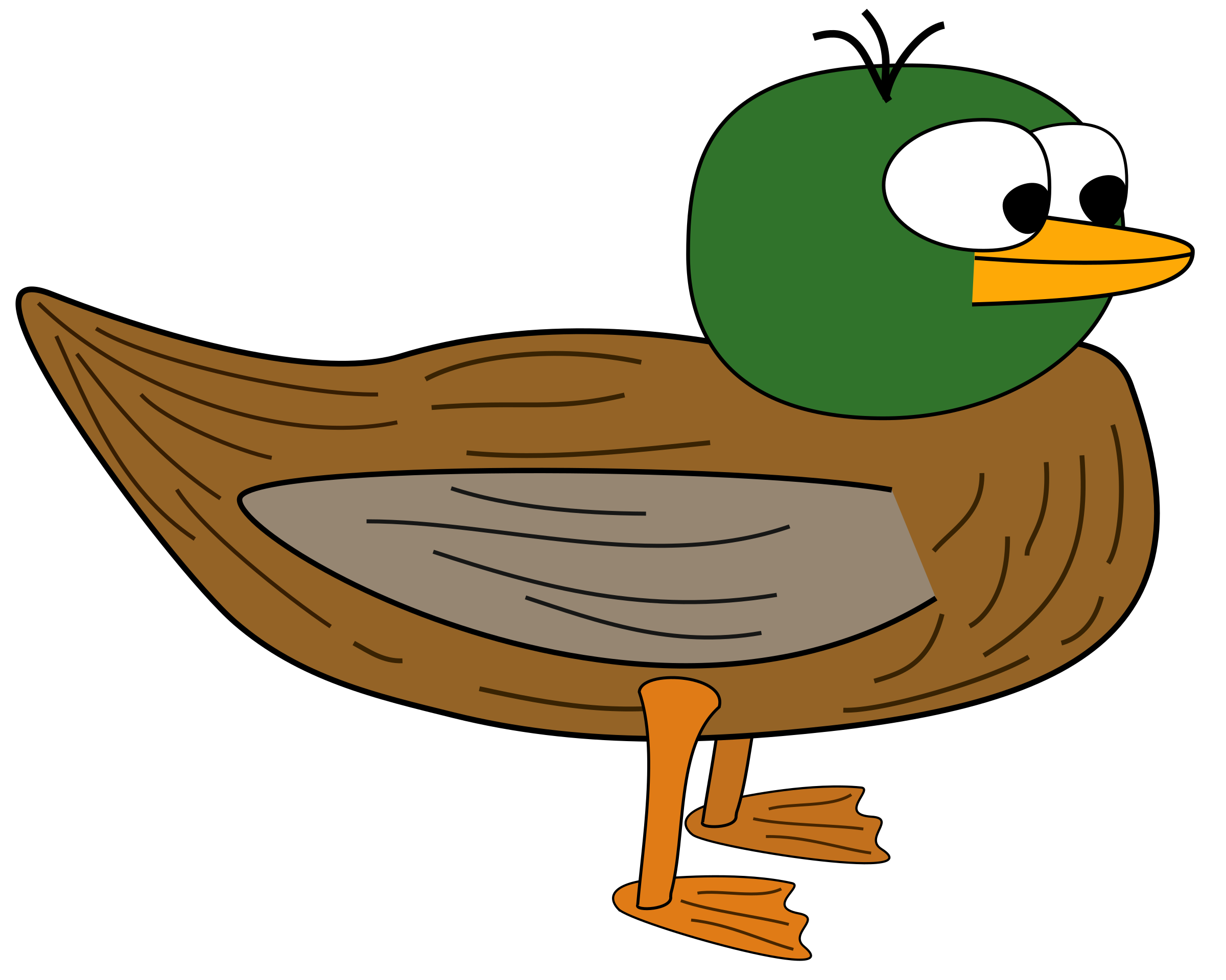 Cartoon Duck by andForMore