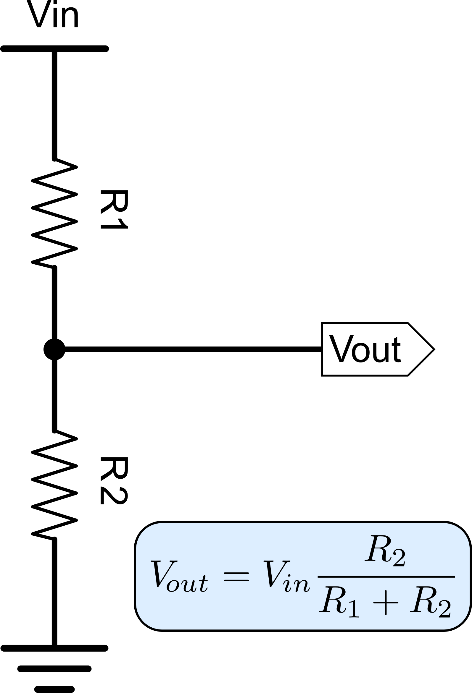 voltage divider In electronics, a voltage divider is a passive linear circuit that produces an output voltage (vout) that is a fraction of its input voltage (vin) voltage division is the result of distributing the input voltage among the components of the divider a simple example of a voltage divider is two resistors connected in series, with the input.