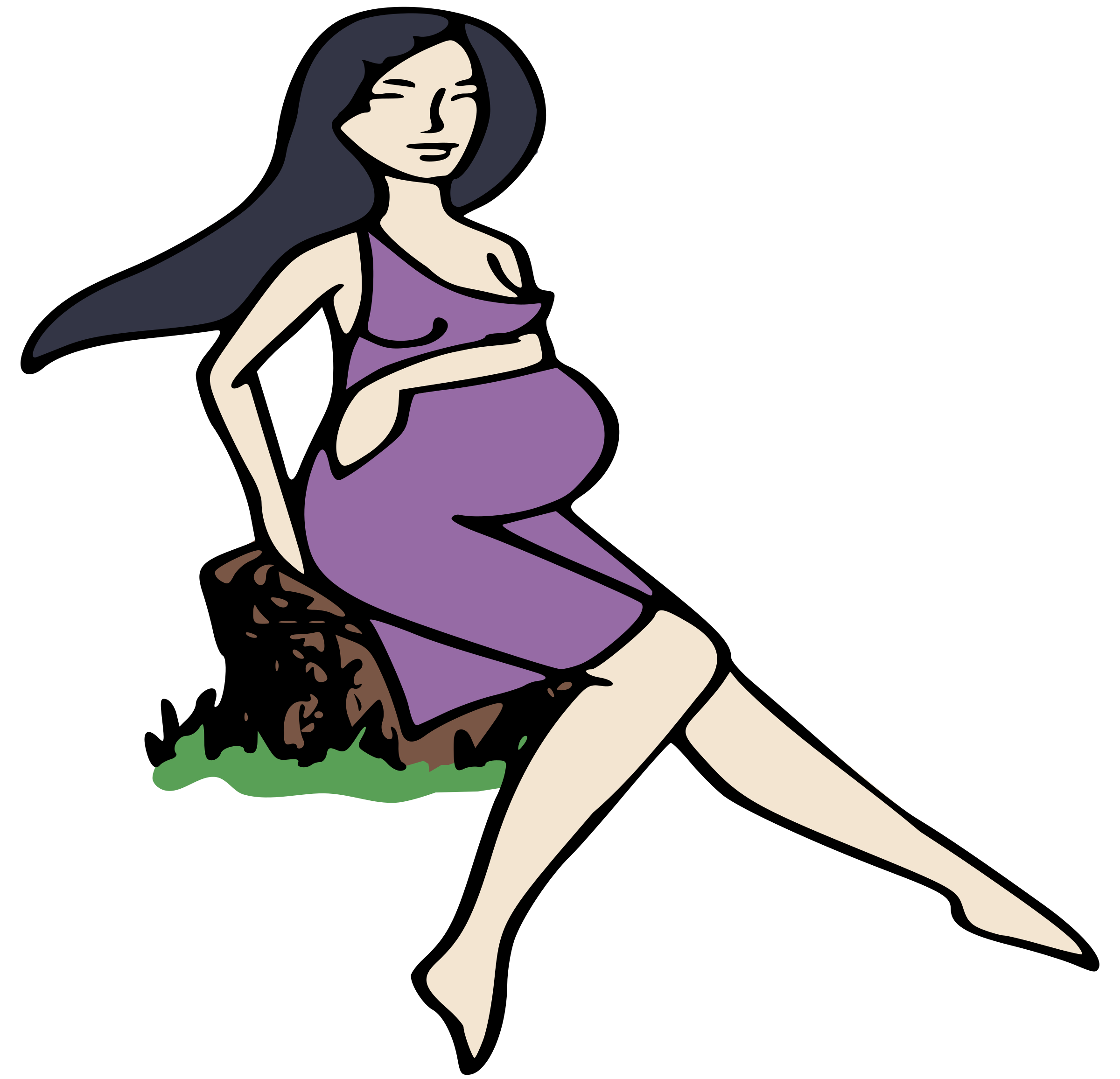Pregnant Lady on a Stump by j4p4n