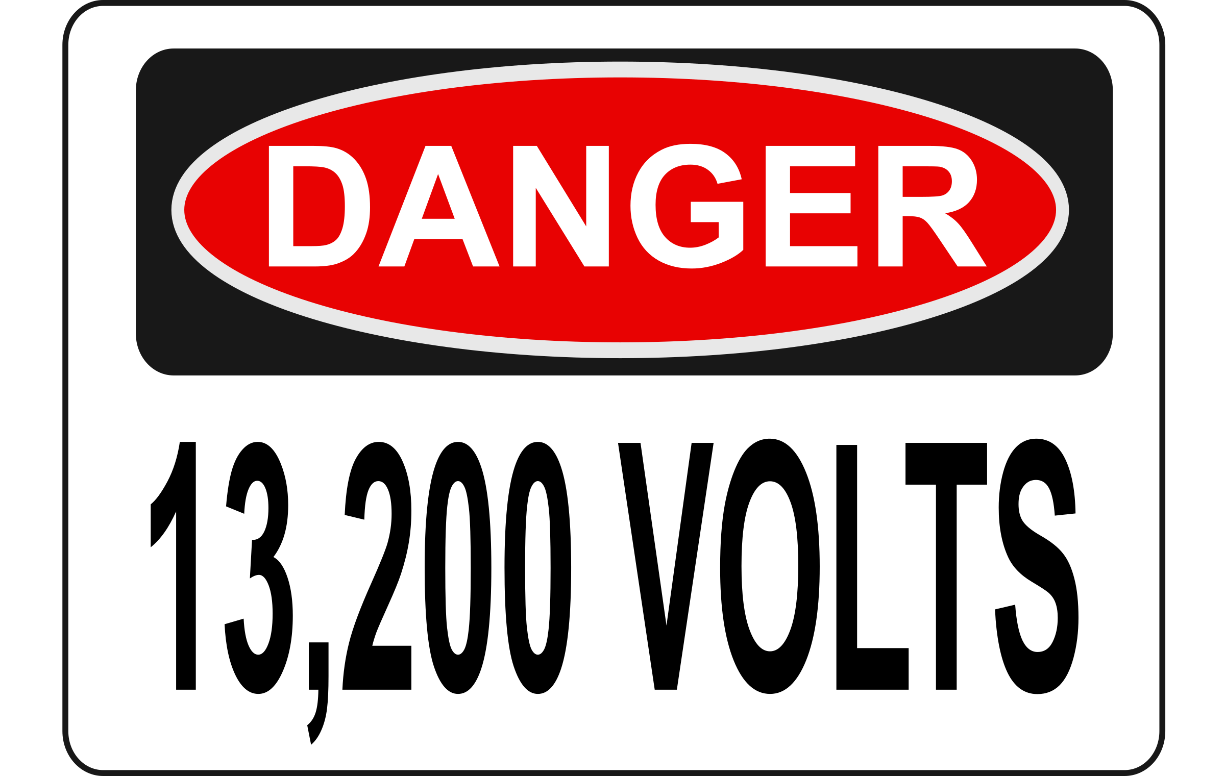 Danger - 13,200 Volts (Alt 1) by Rfc1394