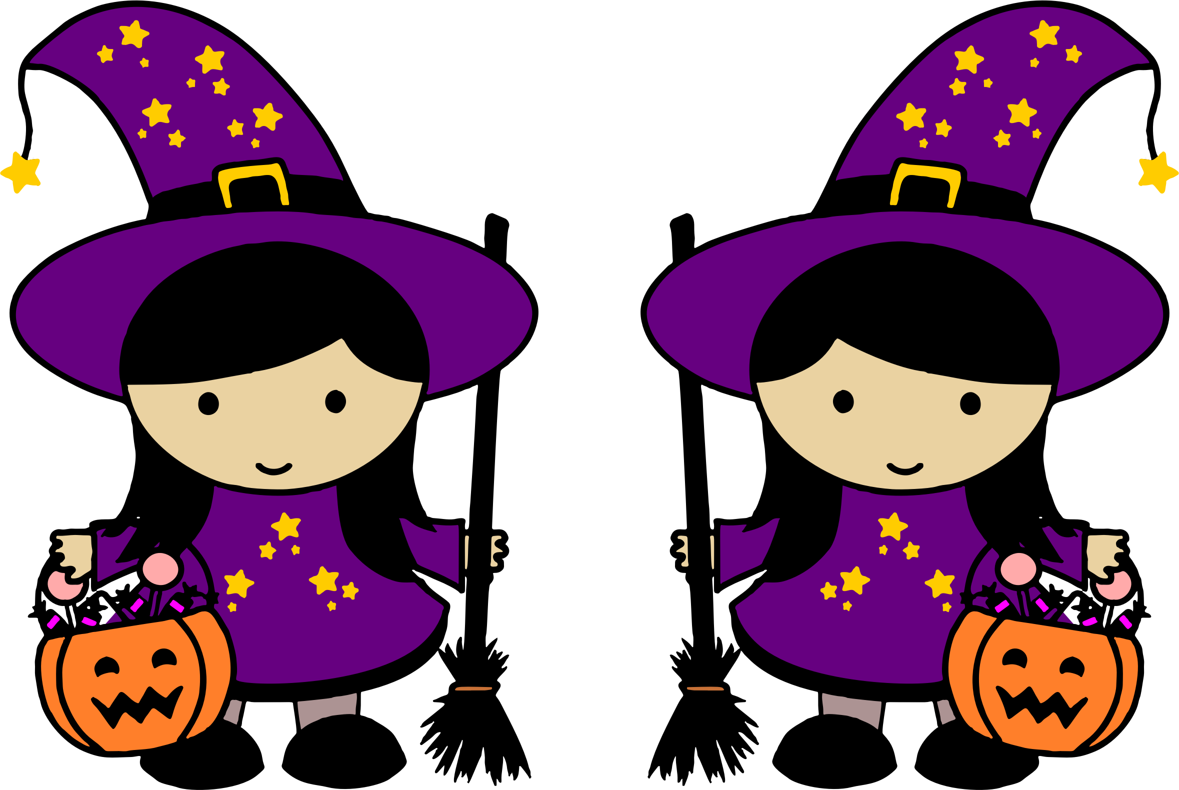 Twin Halloween Witches by JayNick