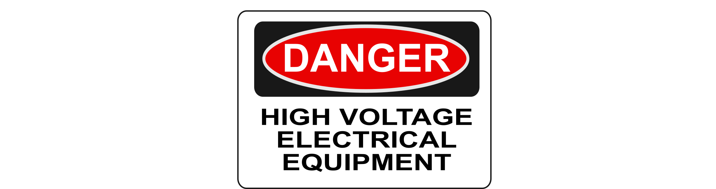 Danger - High Voltage Electrical Equipment by Rfc1394