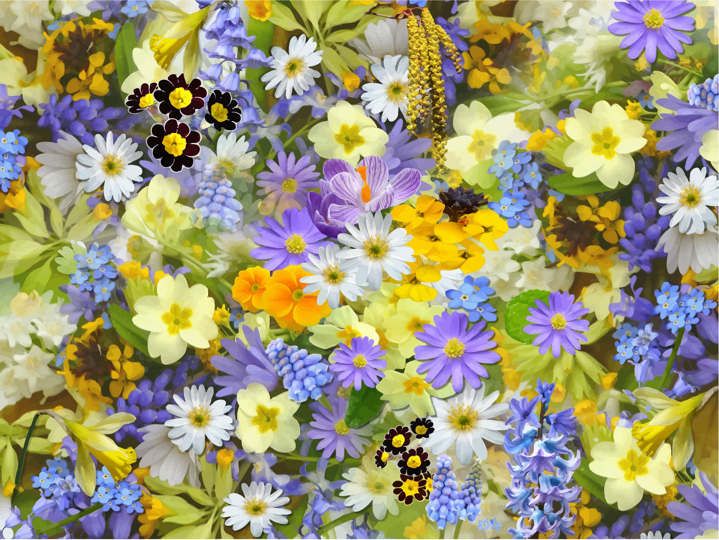 Floral background 8 by Firkin