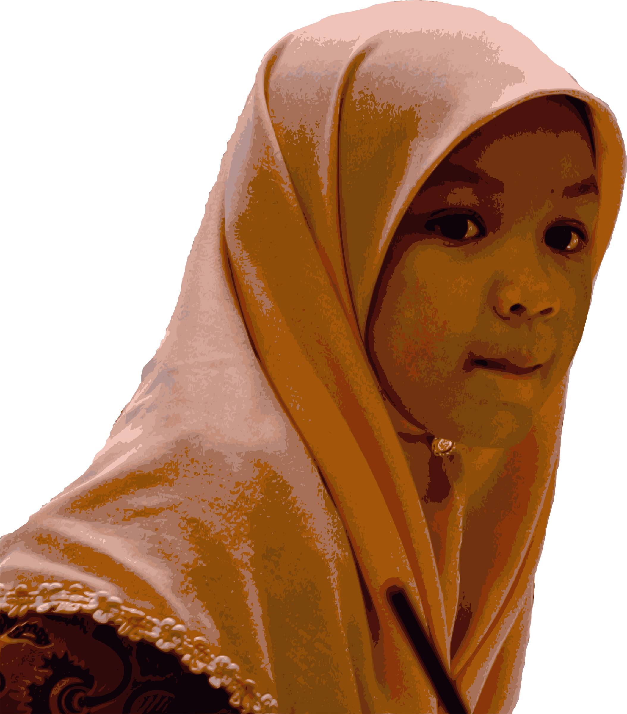 Young Girl in Hijab by j4p4n