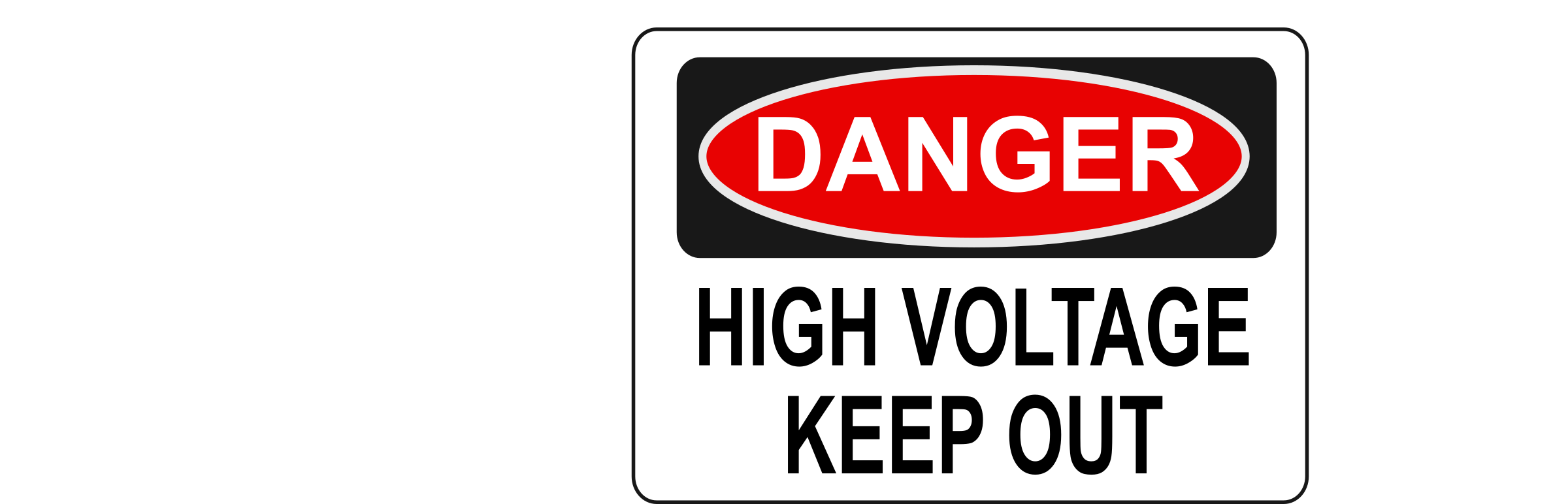 Danger - High Voltage Keep Out by Rfc1394