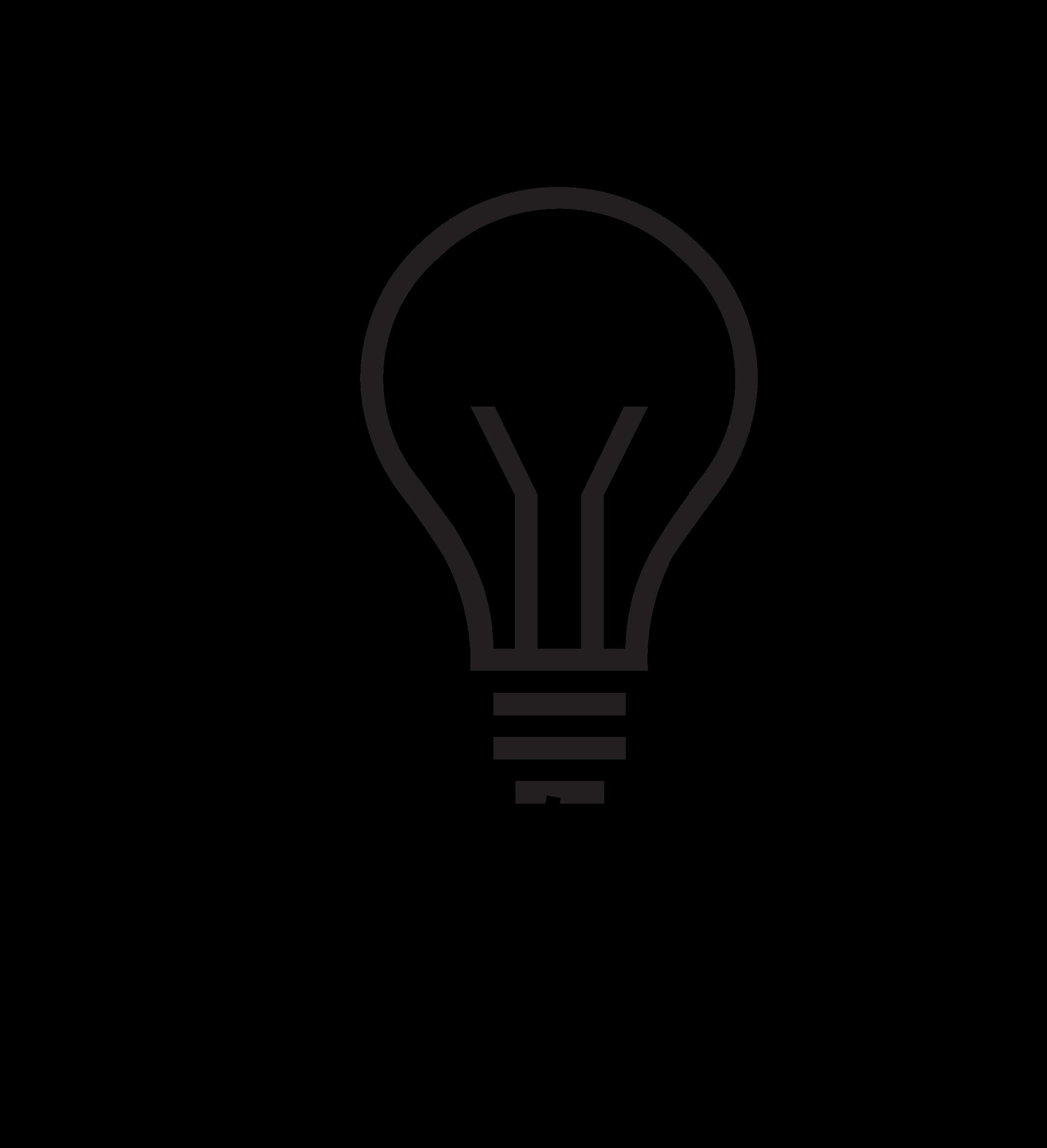 Clipart - Light Bulb Man Silhouette