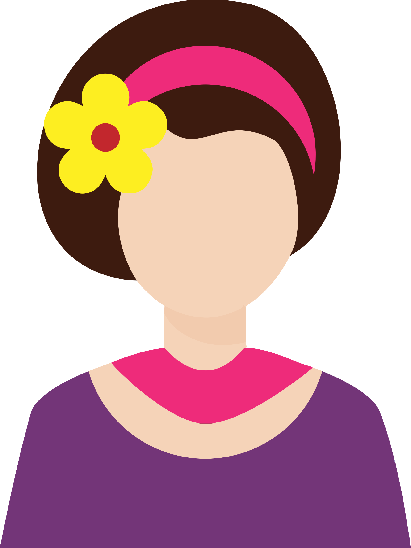 Female Avatar With Flower In Hair by GDJ