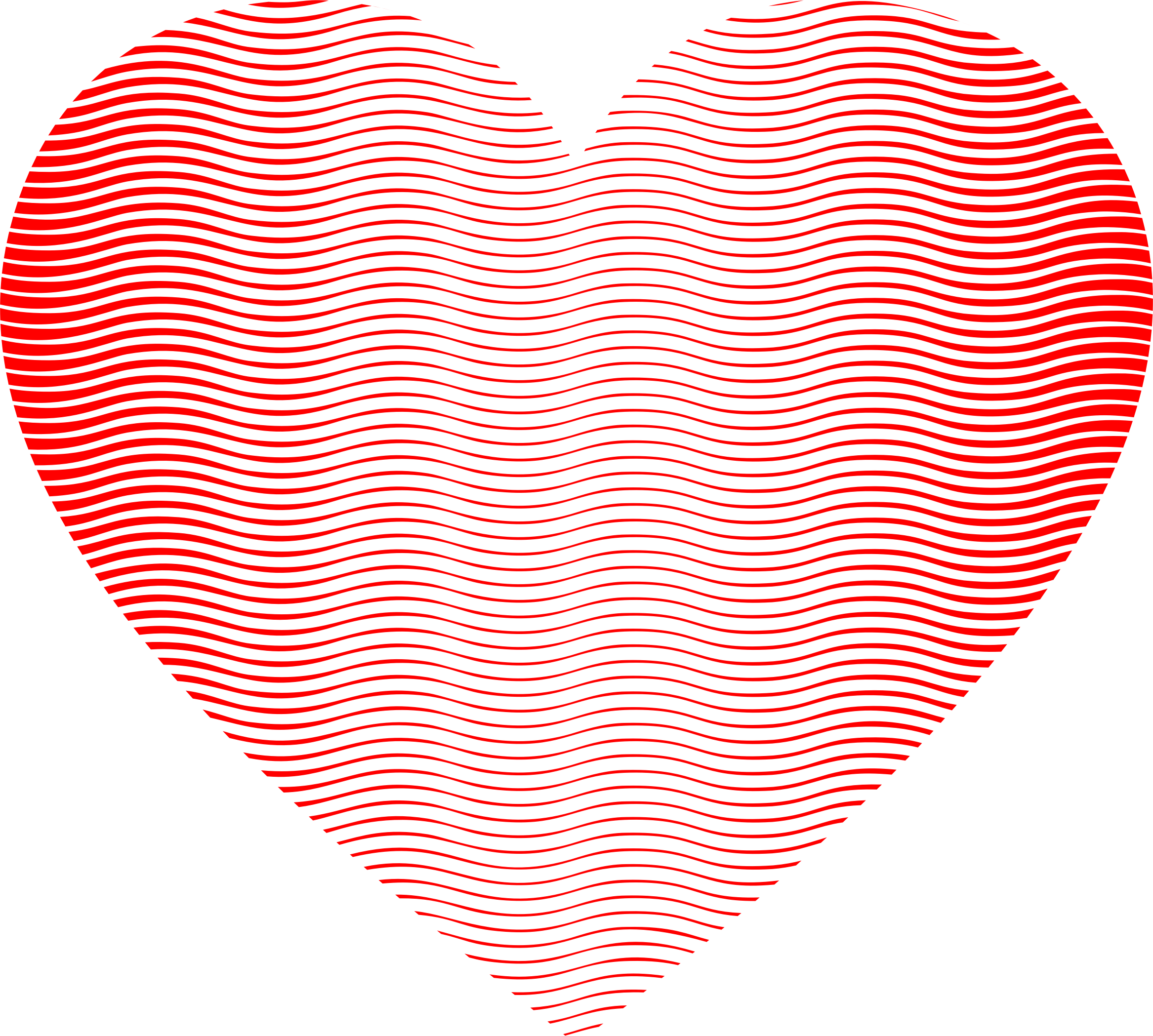 Wavy Heart Line Art 2 by GDJ