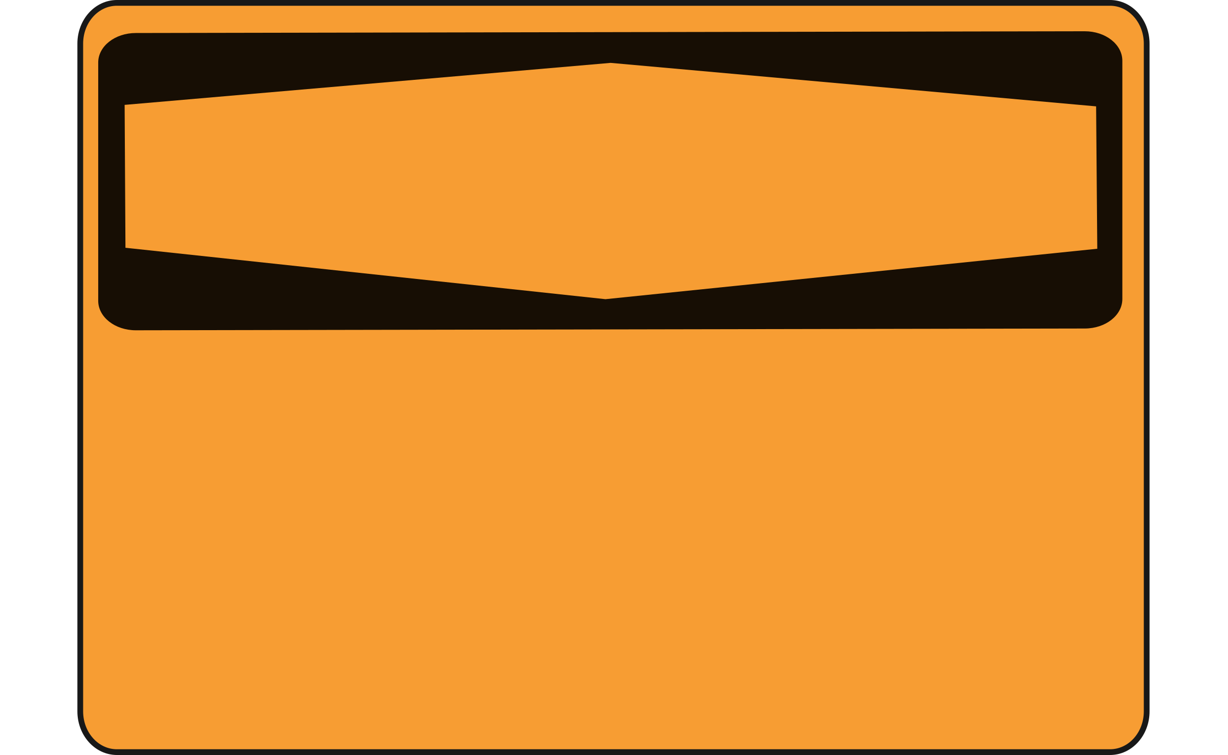 Warning - Blank (orange) by Rfc1394