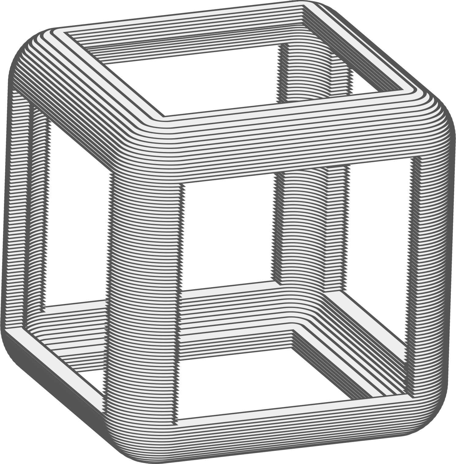 Animated Hollow Cube by jarda