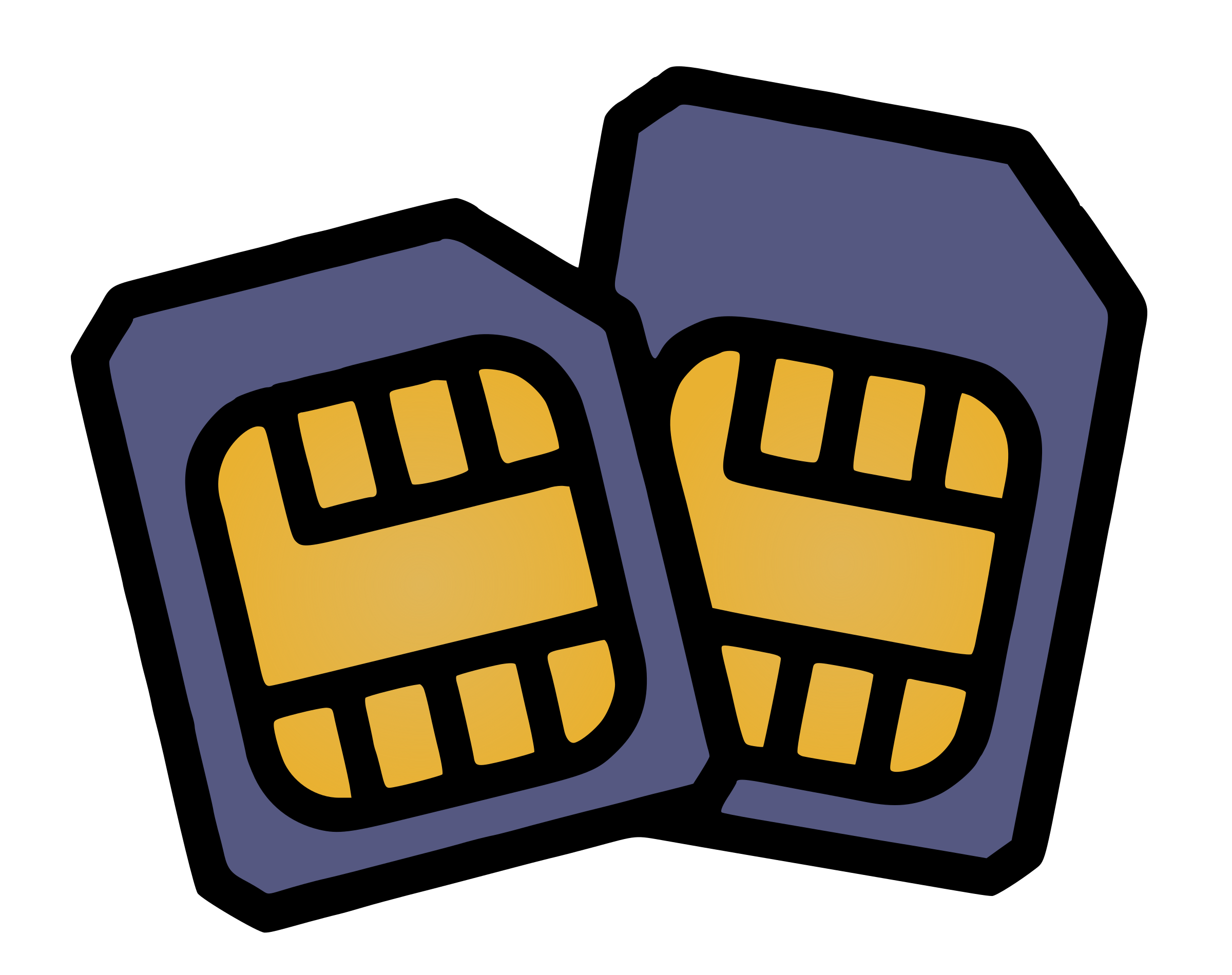 Two SIM Cards - Colour by j4p4n