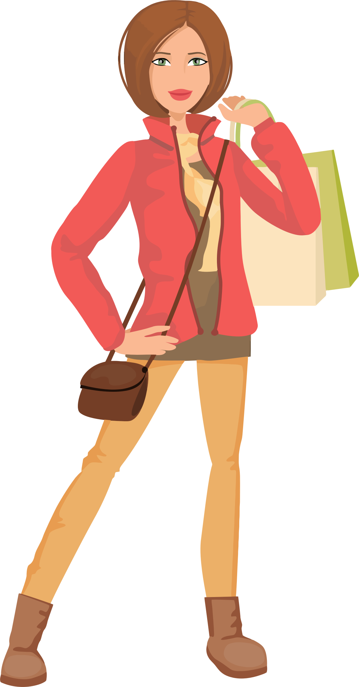 Shopping Woman Illustration by GDJ