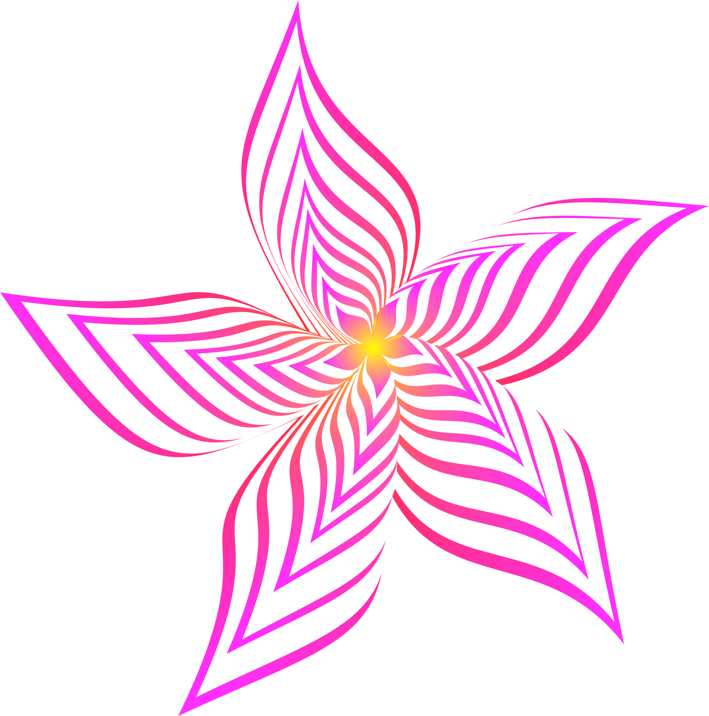 Abstract flower 28 (colour 2) by Firkin