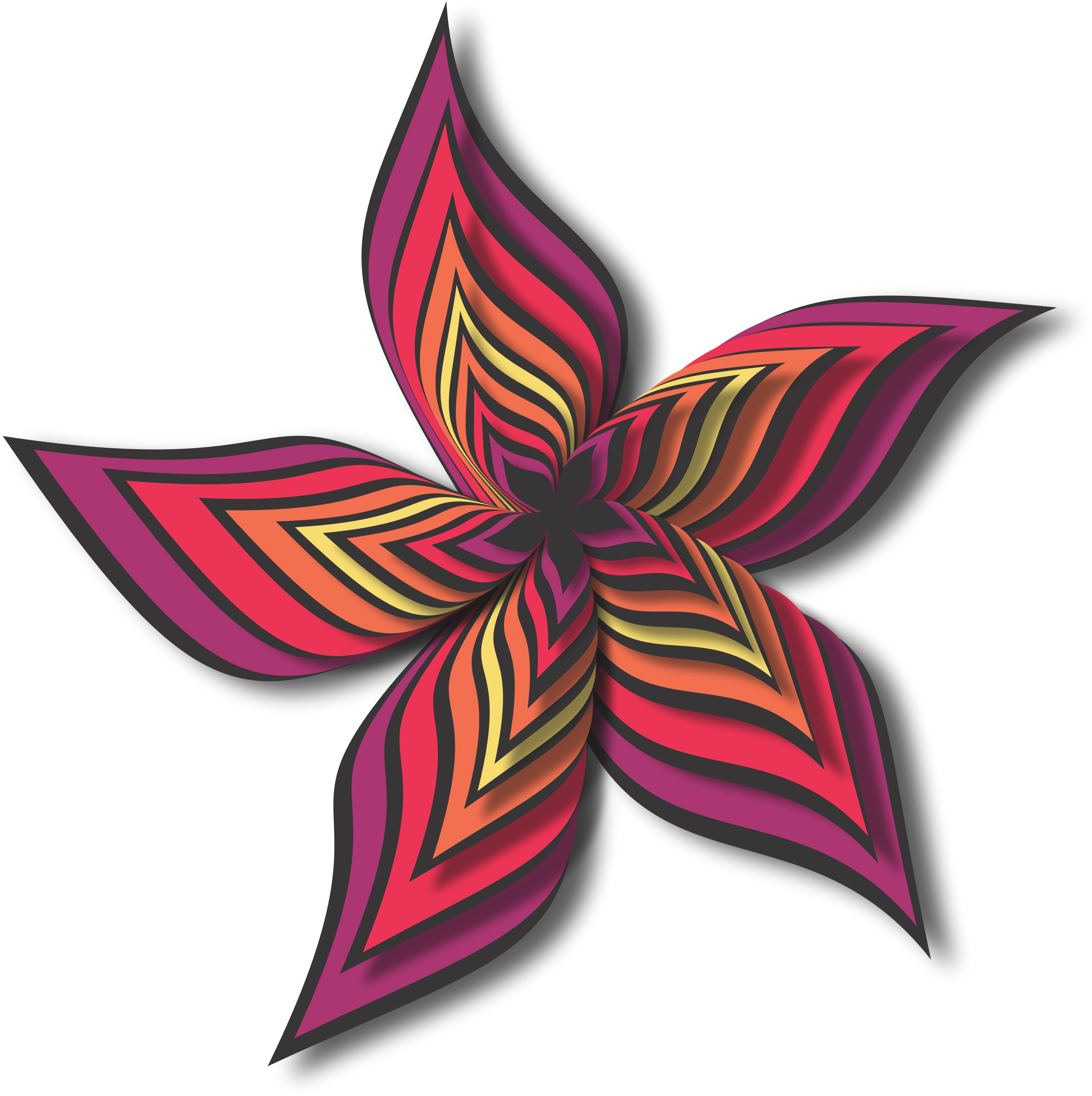Abstract flower 28 (colour 3) by Firkin