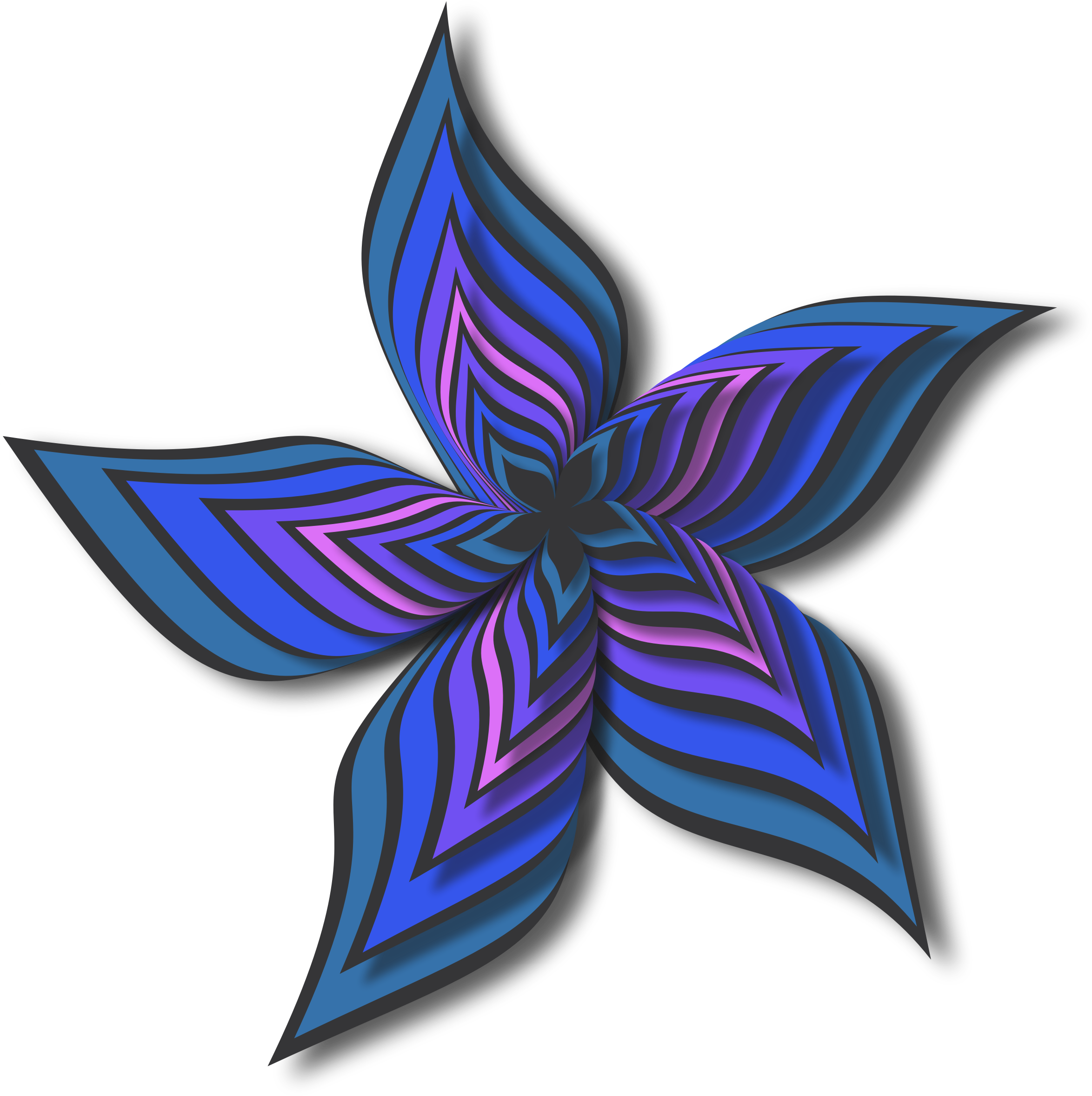 Abstract flower 28 (colour 5) by Firkin