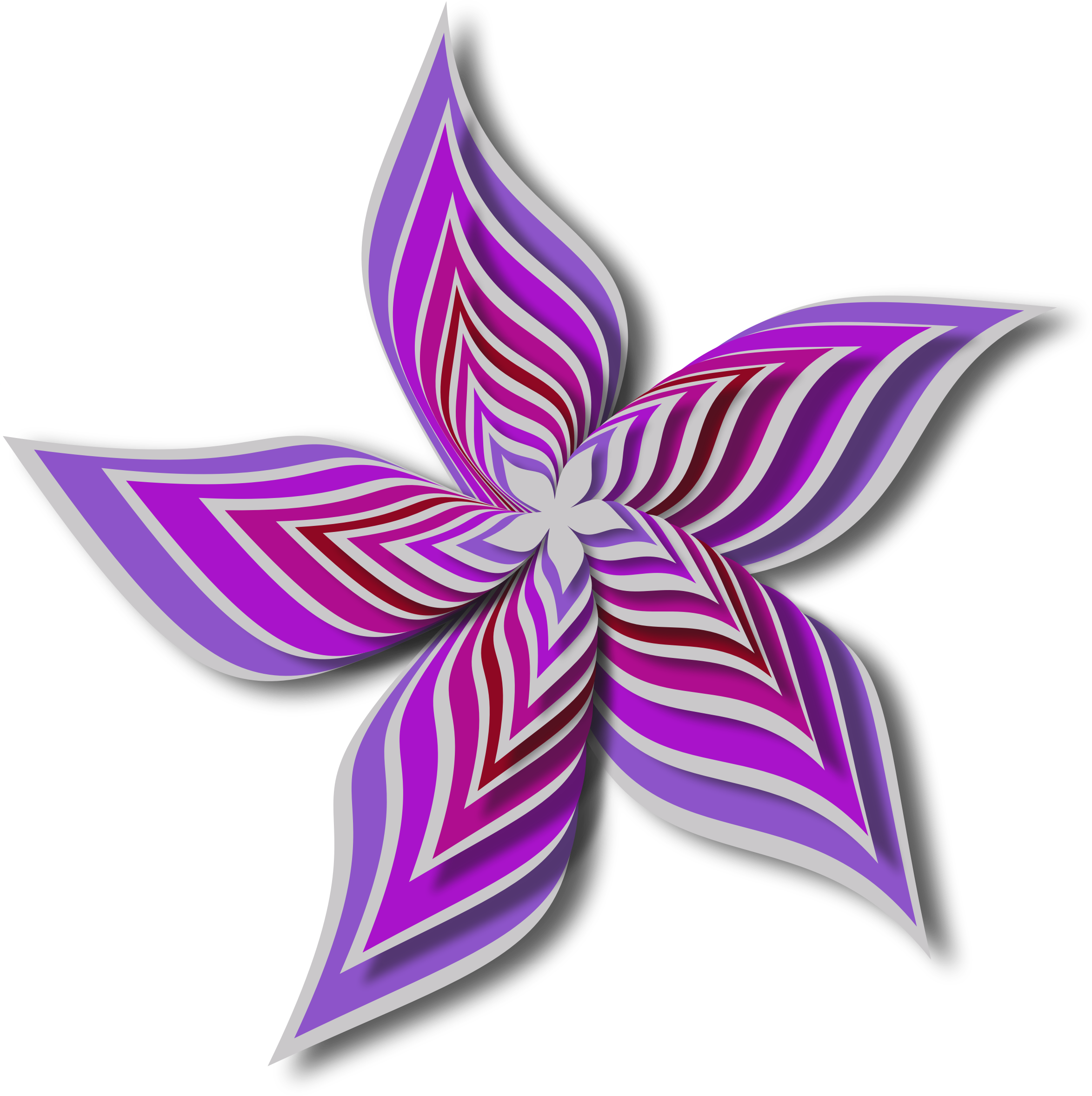 Abstract flower 28 (colour 8) by Firkin