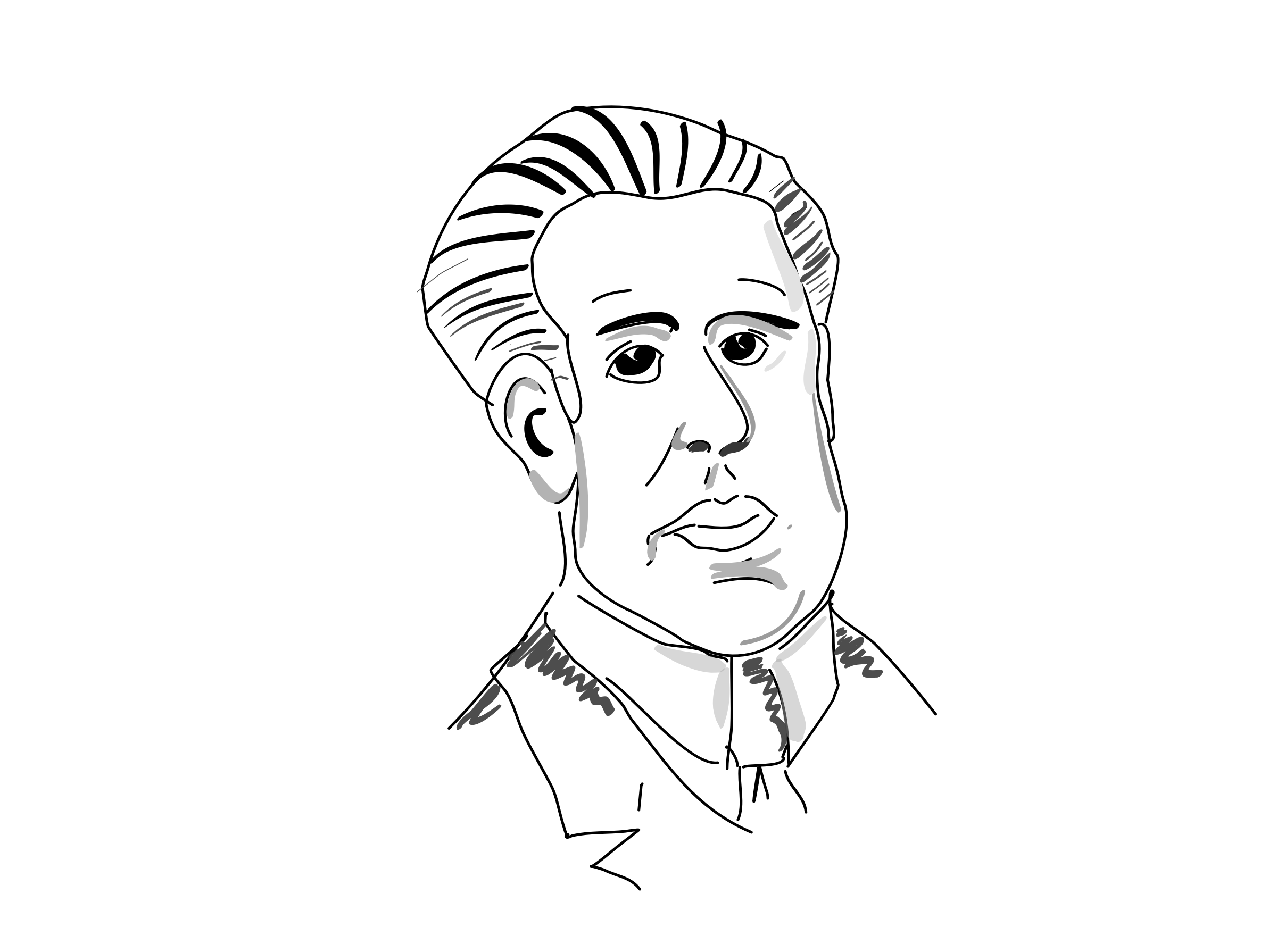 Niels Bohr by CDF Sketch