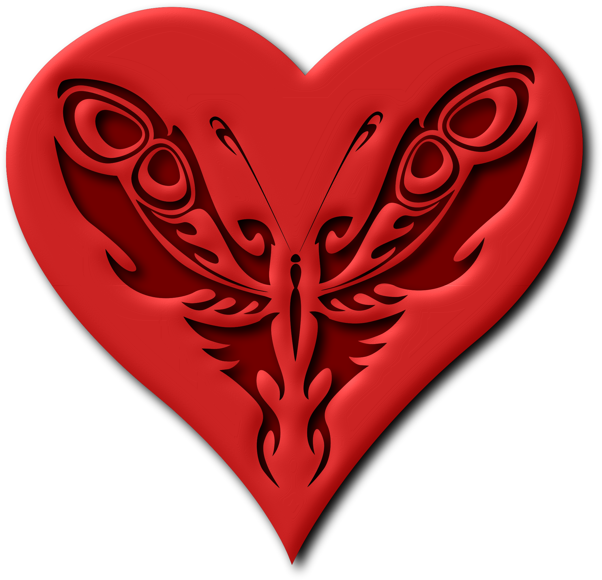 Butterfly heart (version 2) by Firkin