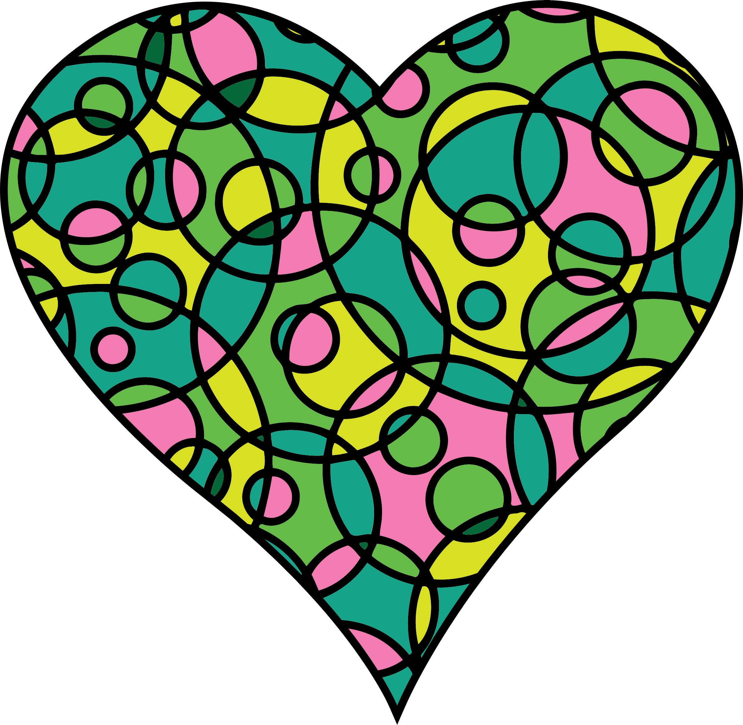 Patterned heart 22 by Firkin