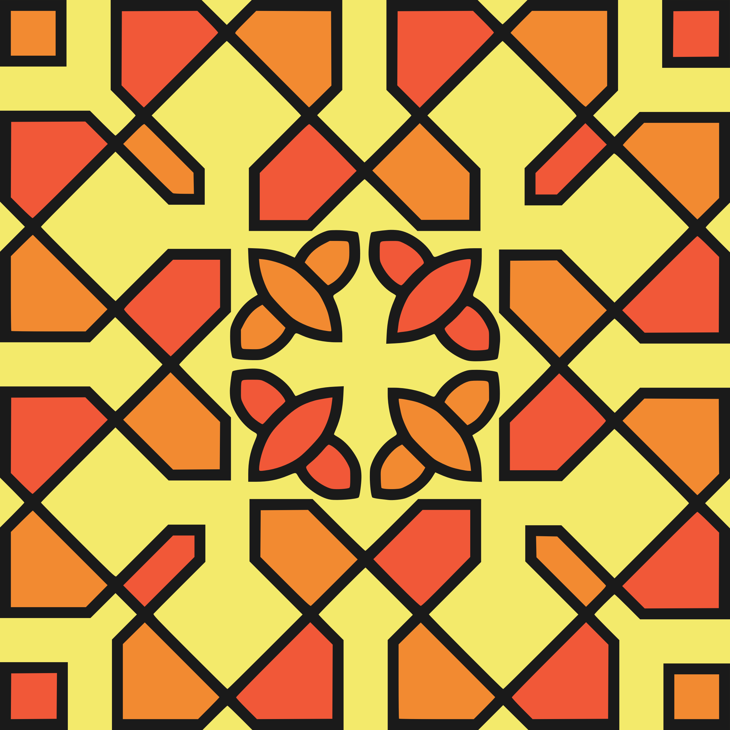 Square ornament 37 (colour) by Firkin