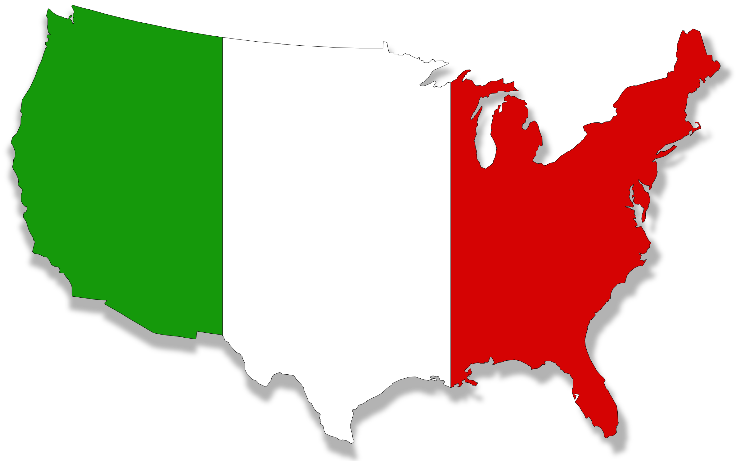 US-Italy flag map by dordy