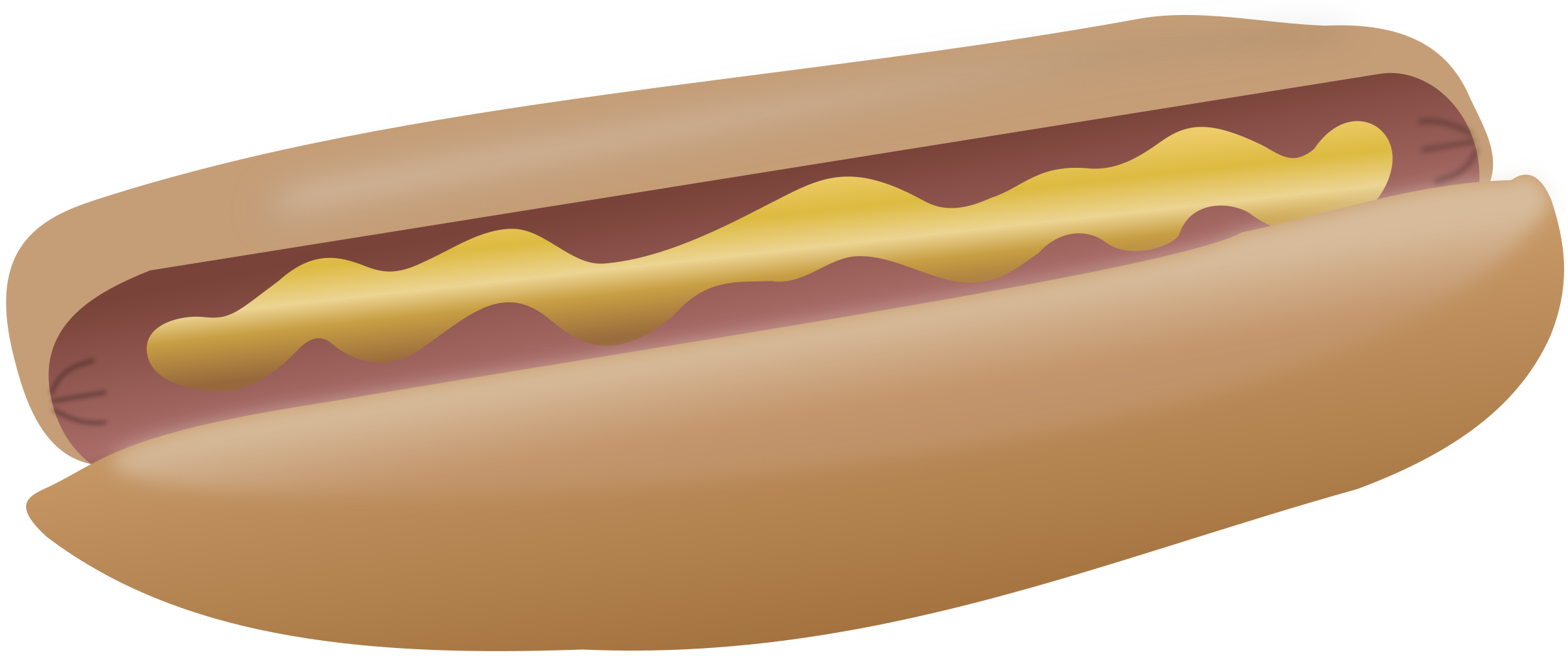 Hot dog with mustard by cwt