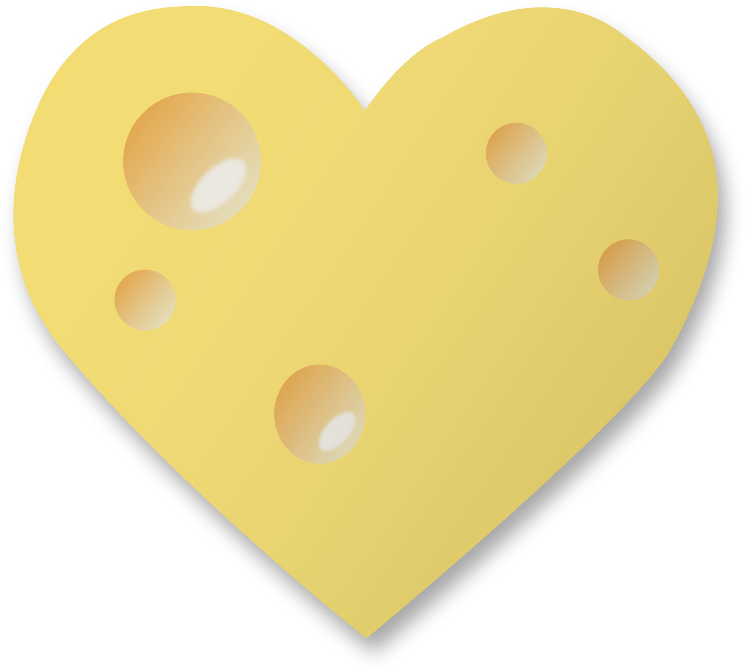 Swiss cheese heart by Firkin
