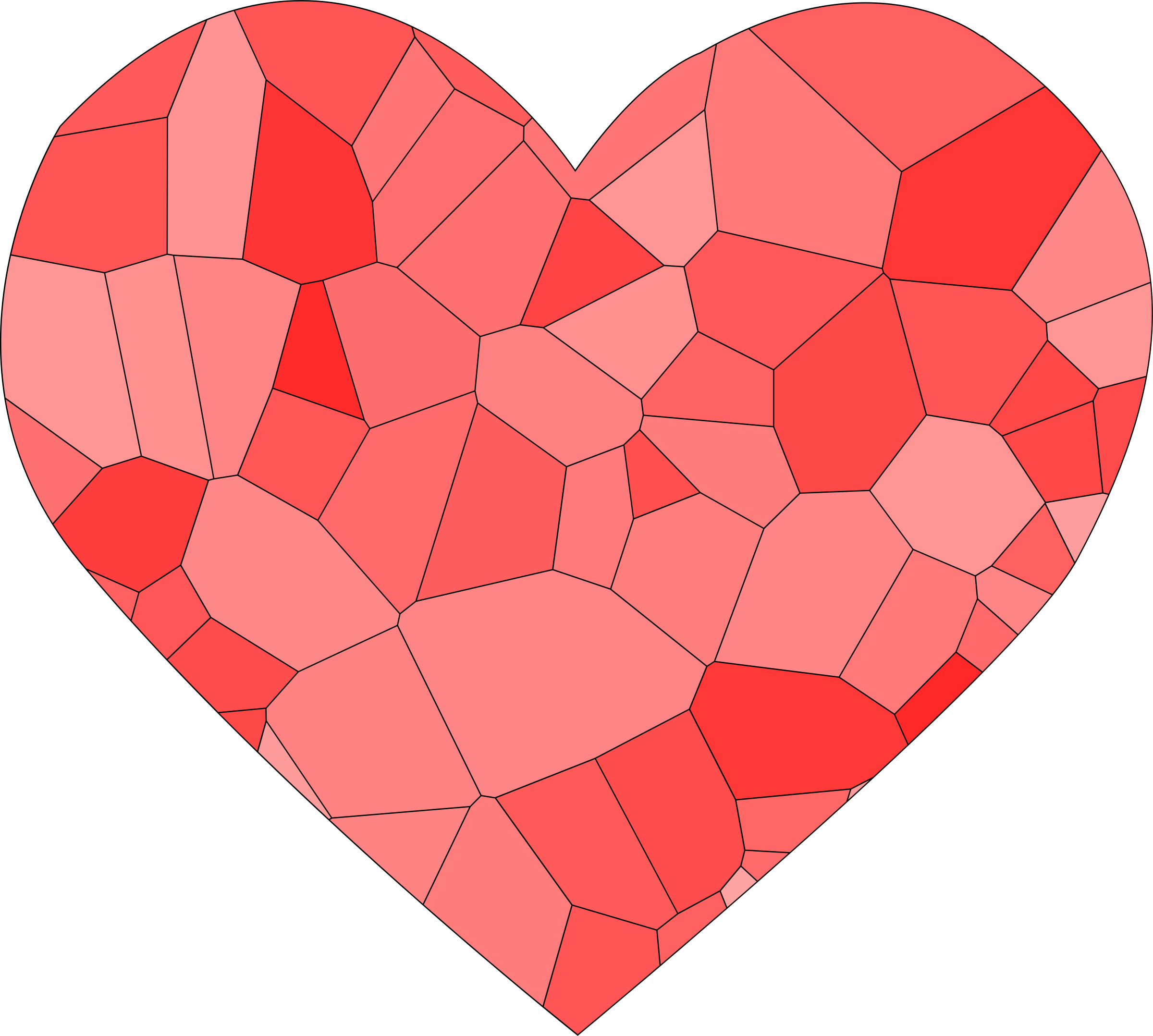Voronoi heart by Firkin